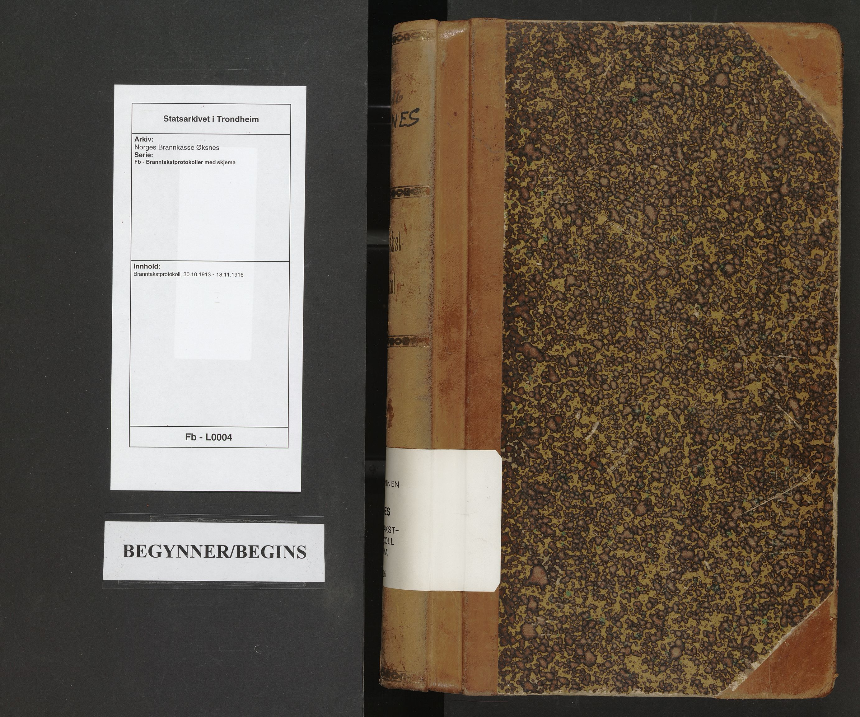 SAT, Norges Brannkasse Øksnes, Fb/L0004: Branntakstprotokoll, 1913-1916