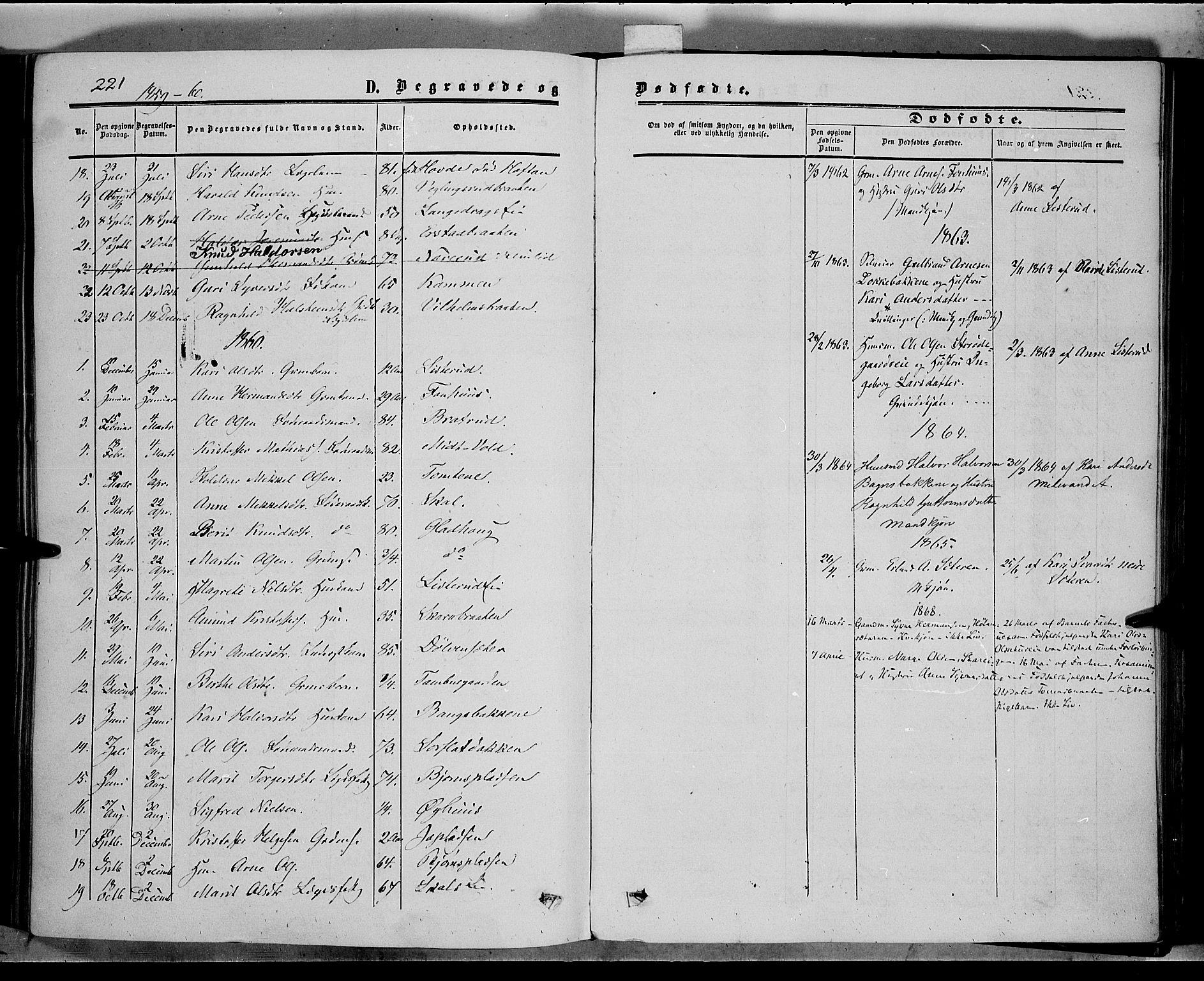 SAH, Sør-Aurdal prestekontor, Ministerialbok nr. 5, 1849-1876, s. 221