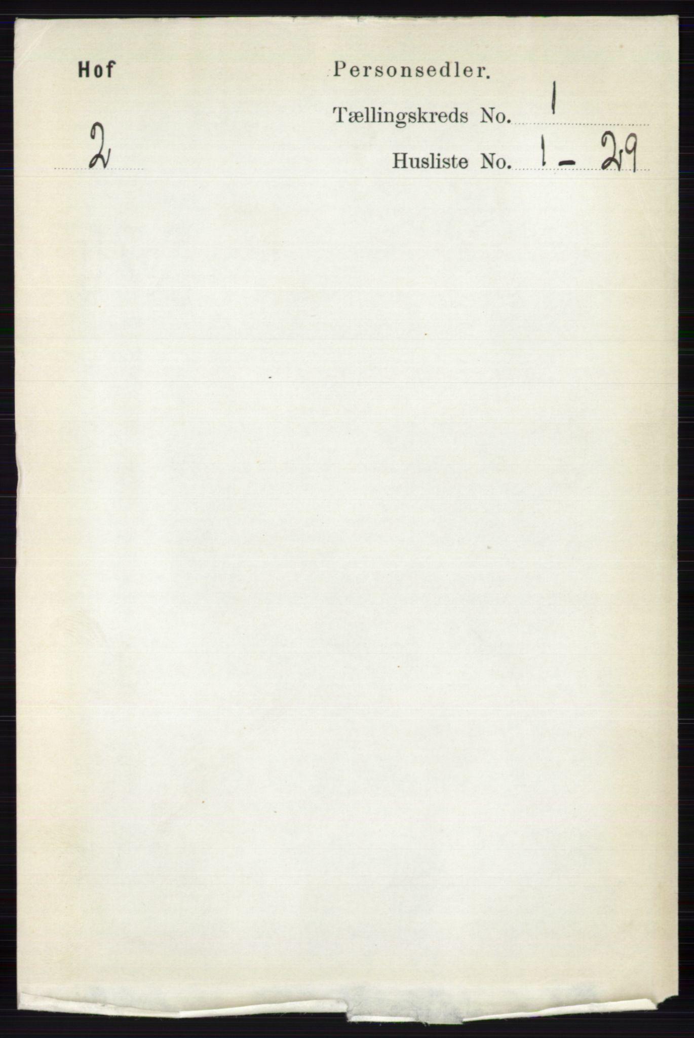 RA, Folketelling 1891 for 0424 Hof herred, 1891, s. 85