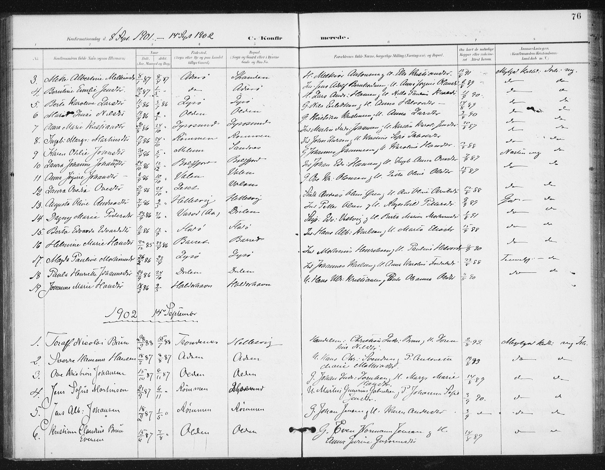 SAT, Ministerialprotokoller, klokkerbøker og fødselsregistre - Sør-Trøndelag, 654/L0664: Ministerialbok nr. 654A02, 1895-1907, s. 76