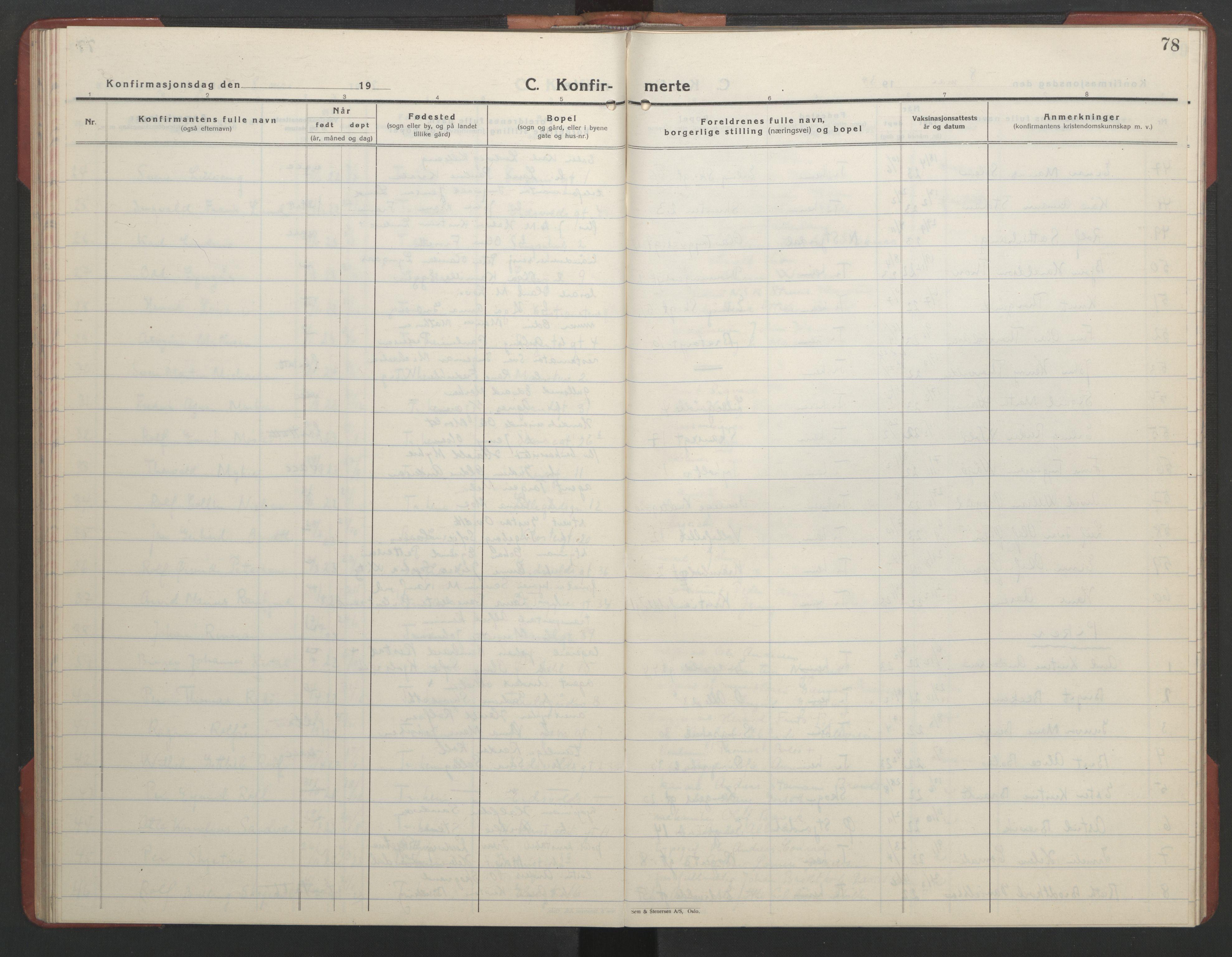 SAT, Ministerialprotokoller, klokkerbøker og fødselsregistre - Sør-Trøndelag, 602/L0151: Klokkerbok nr. 602C19, 1925-1951, s. 78