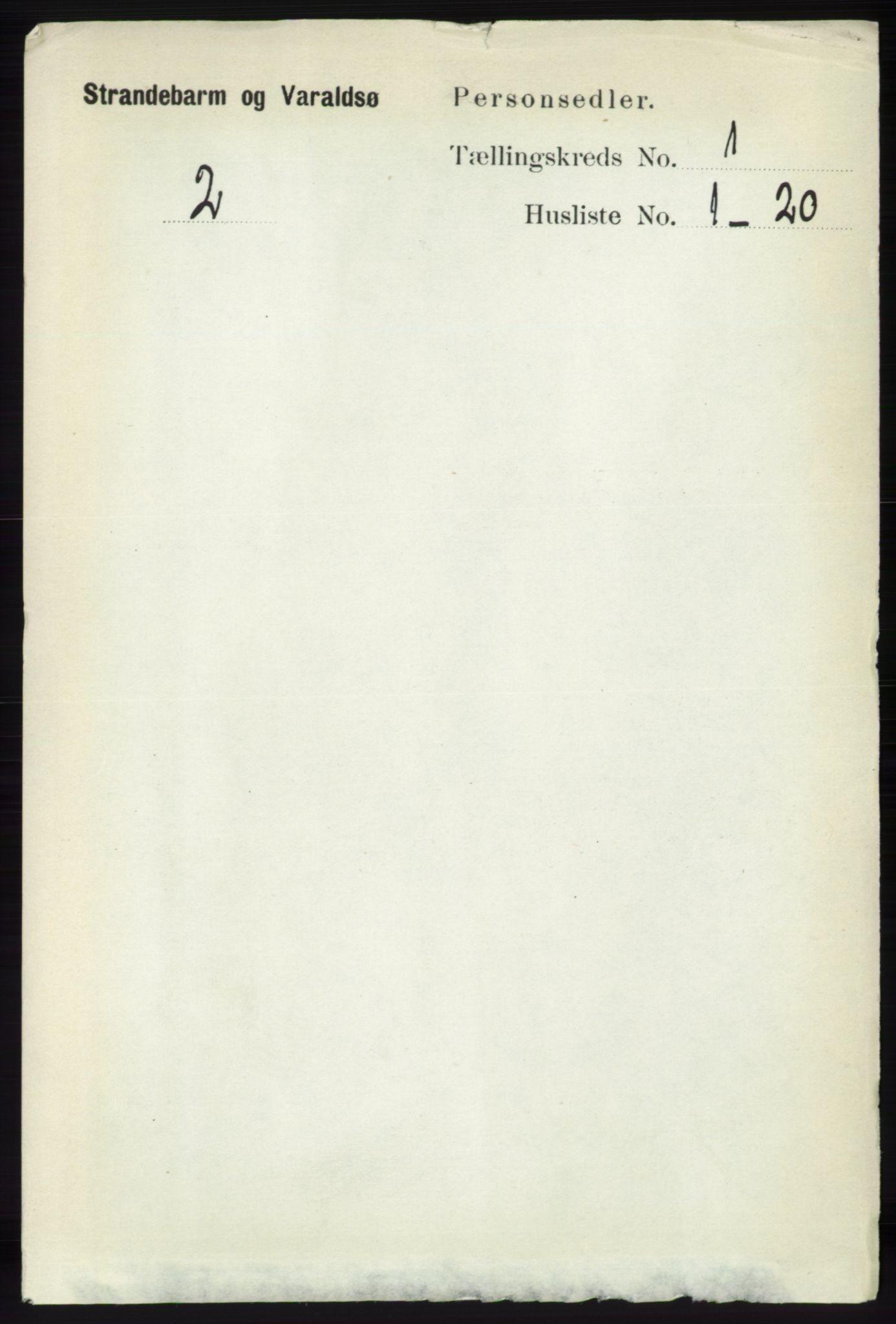 RA, Folketelling 1891 for 1226 Strandebarm og Varaldsøy herred, 1891, s. 90
