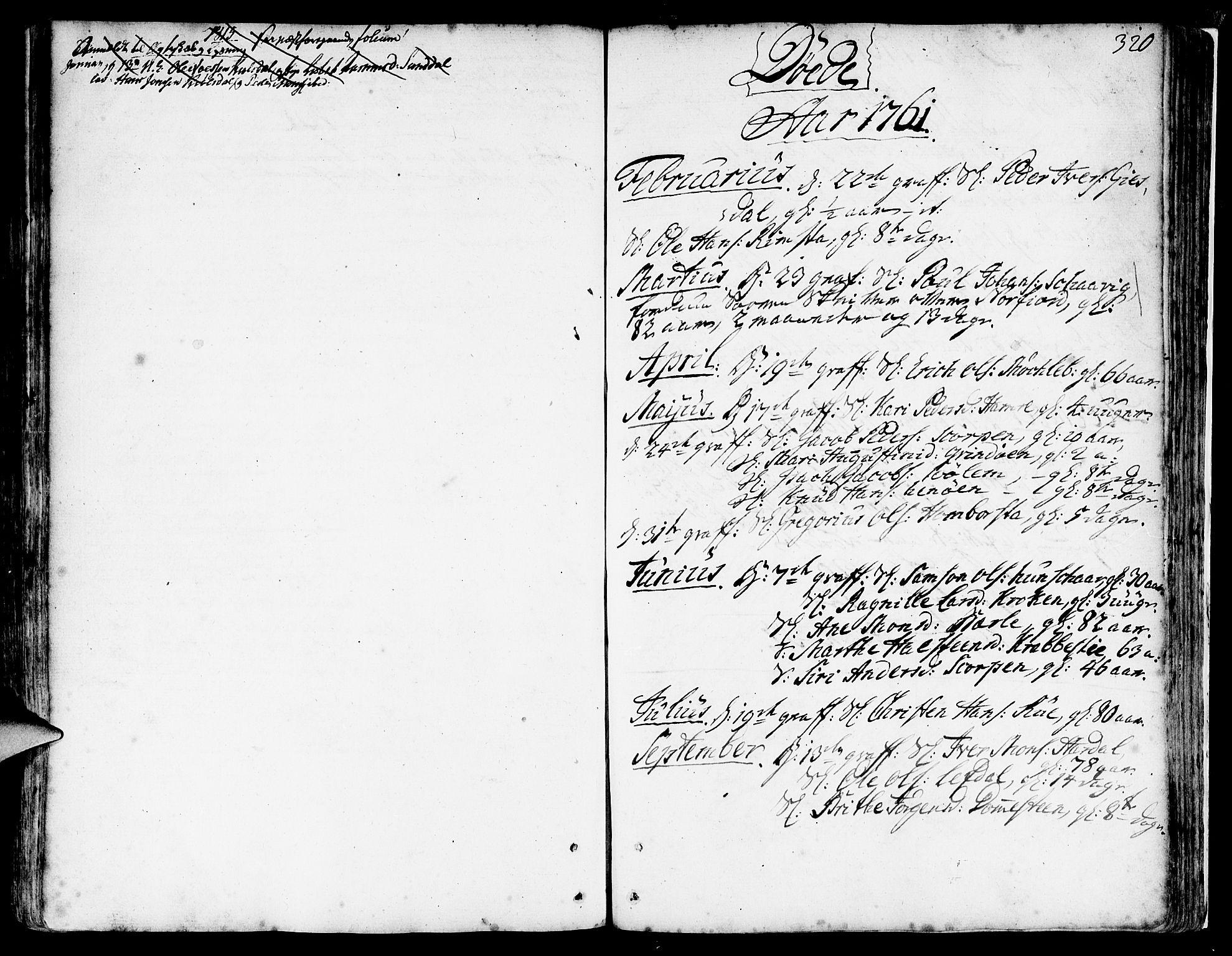 SAB, Davik Sokneprestembete, Ministerialbok nr. A 2, 1742-1816, s. 320