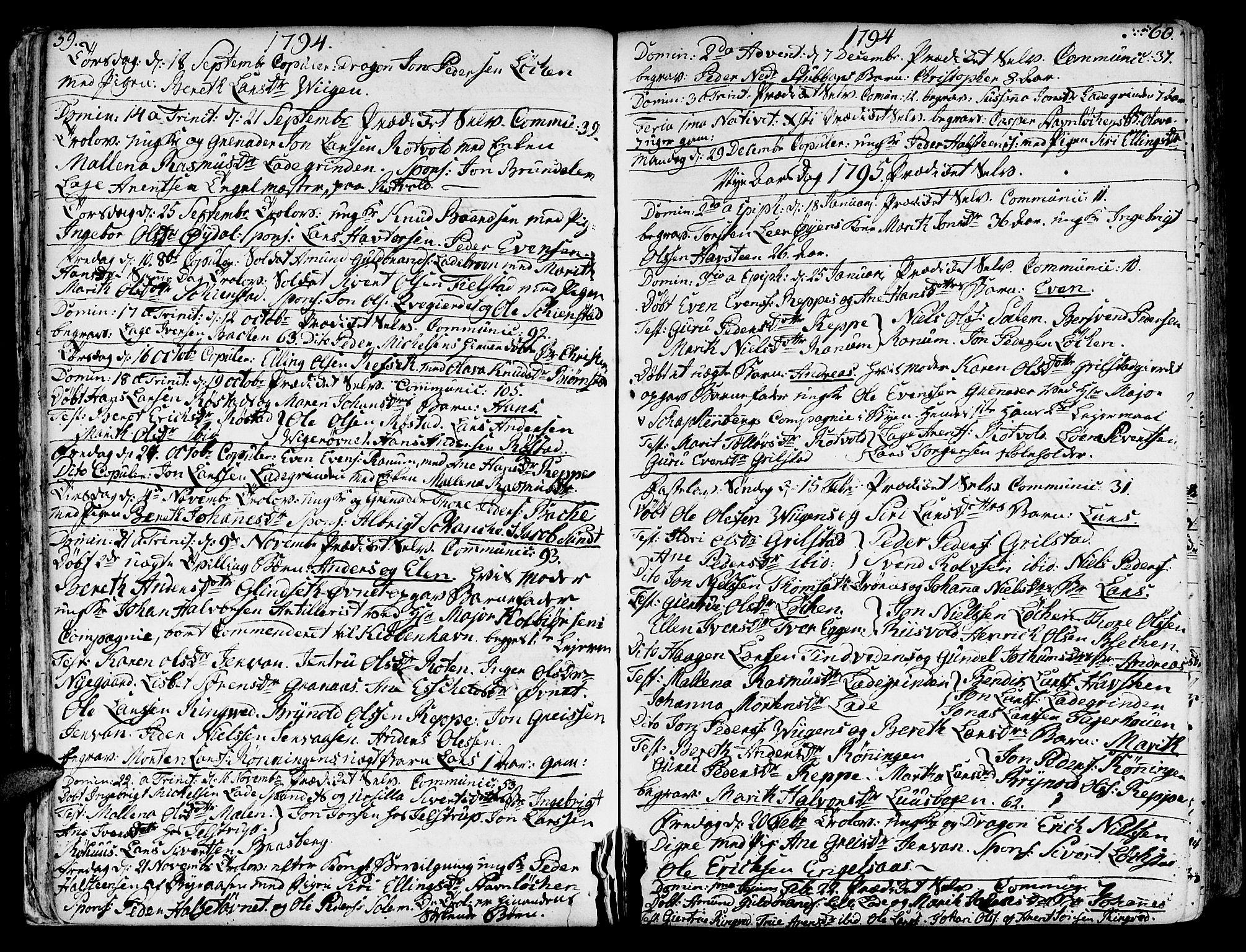 SAT, Ministerialprotokoller, klokkerbøker og fødselsregistre - Sør-Trøndelag, 606/L0280: Ministerialbok nr. 606A02 /1, 1781-1817, s. 59-60