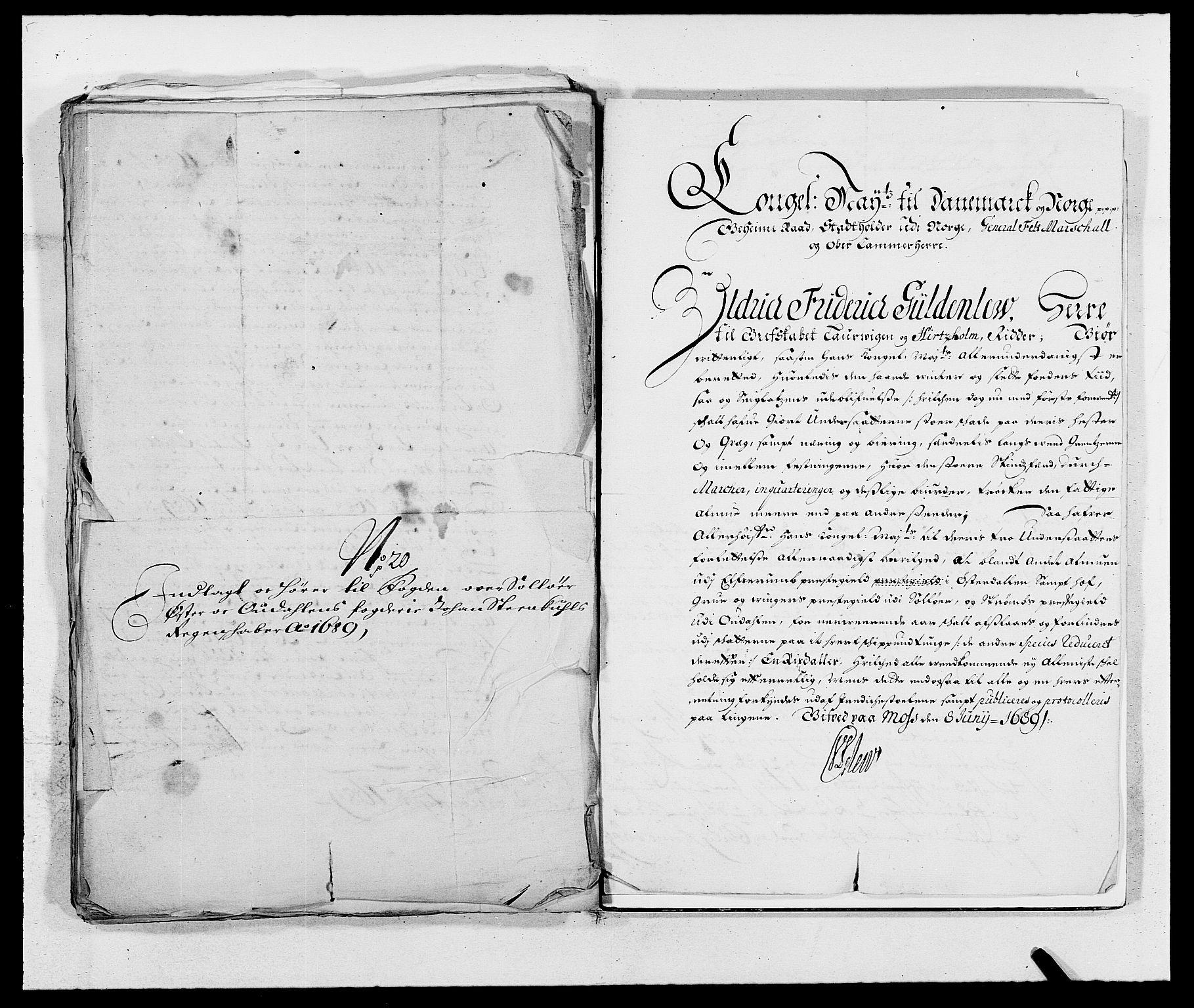 RA, Rentekammeret inntil 1814, Reviderte regnskaper, Fogderegnskap, R13/L0827: Fogderegnskap Solør, Odal og Østerdal, 1689, s. 399