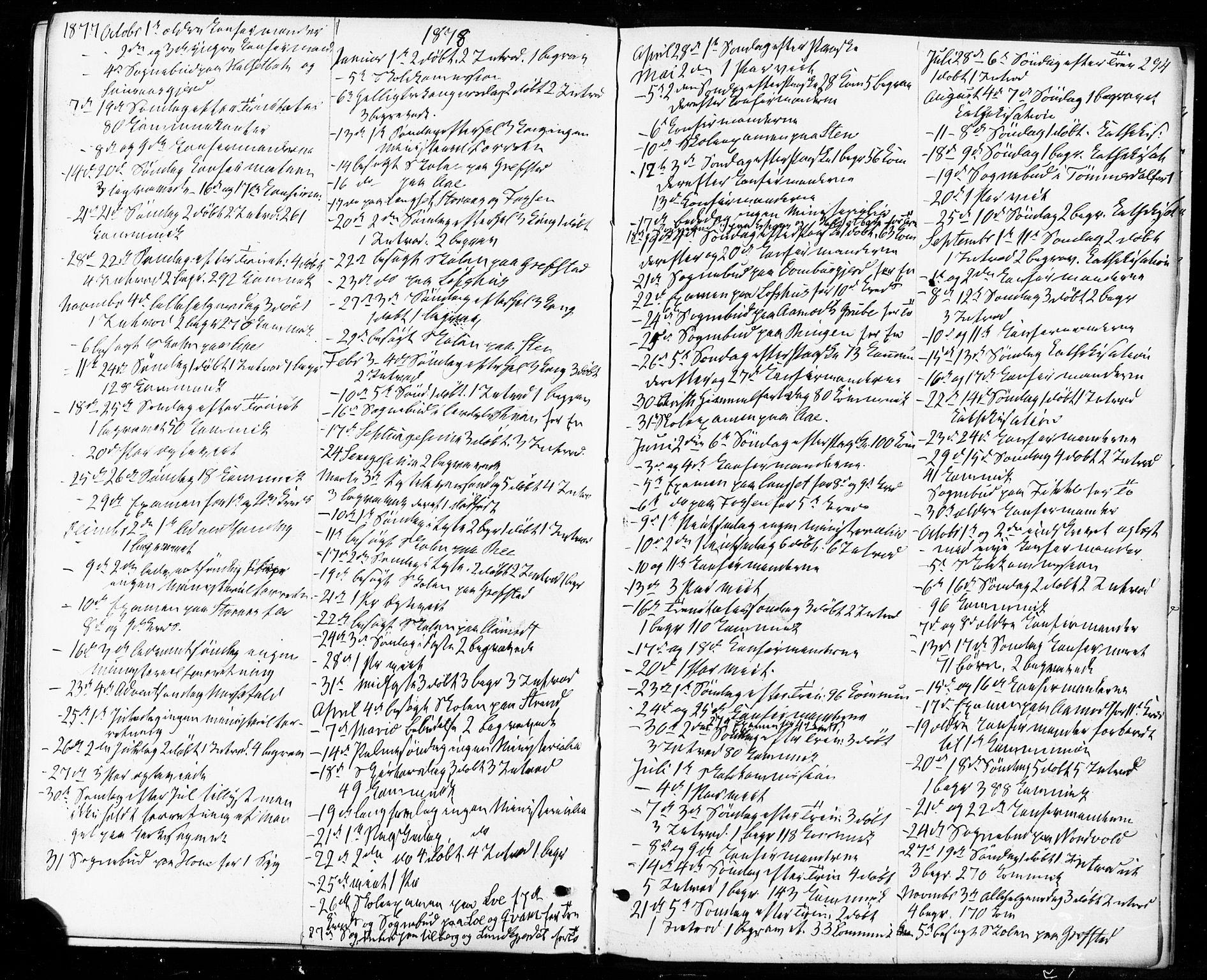 SAT, Ministerialprotokoller, klokkerbøker og fødselsregistre - Sør-Trøndelag, 672/L0856: Ministerialbok nr. 672A08, 1861-1881, s. 294