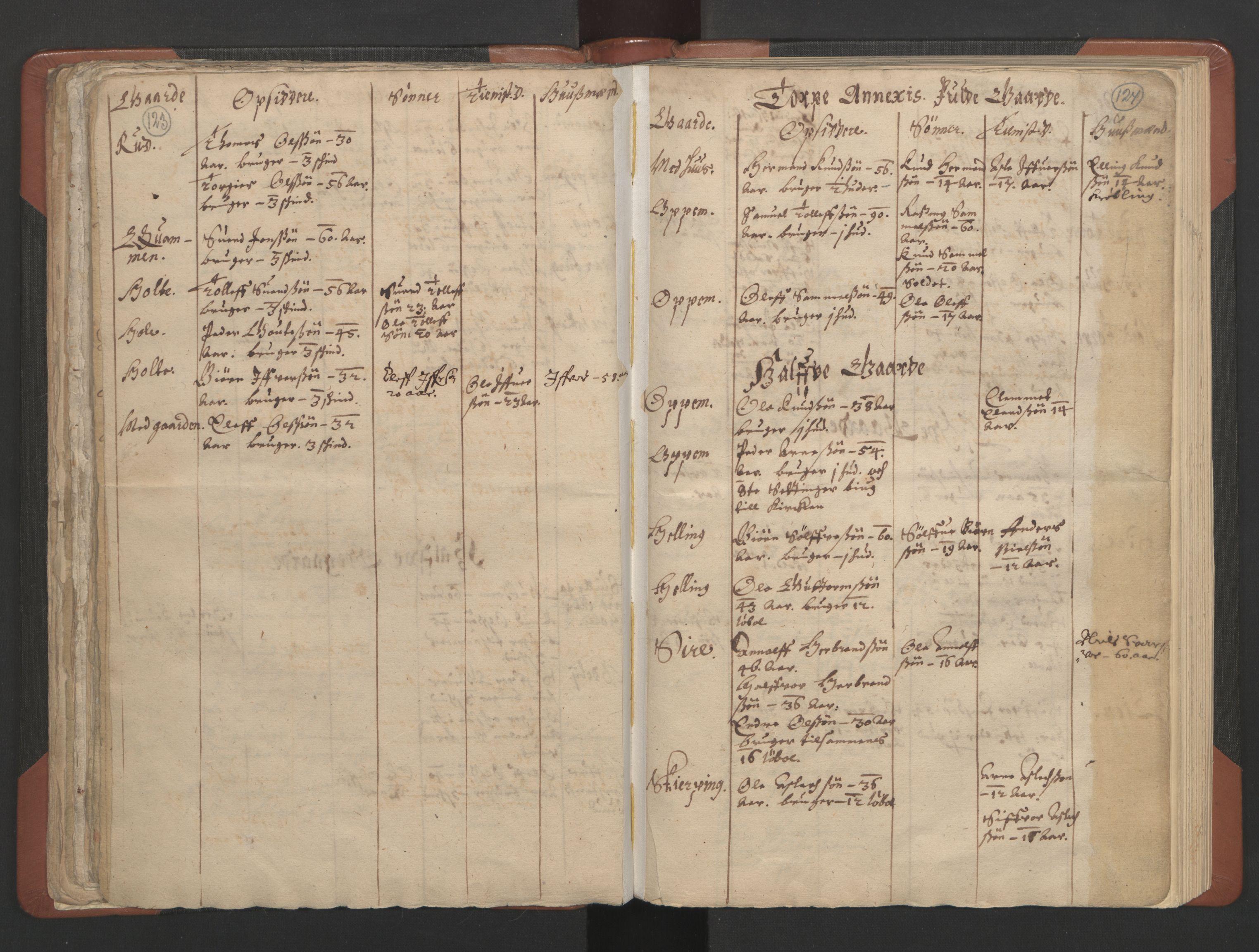 RA, Sogneprestenes manntall 1664-1666, nr. 8: Valdres prosti, 1664-1666, s. 123-124