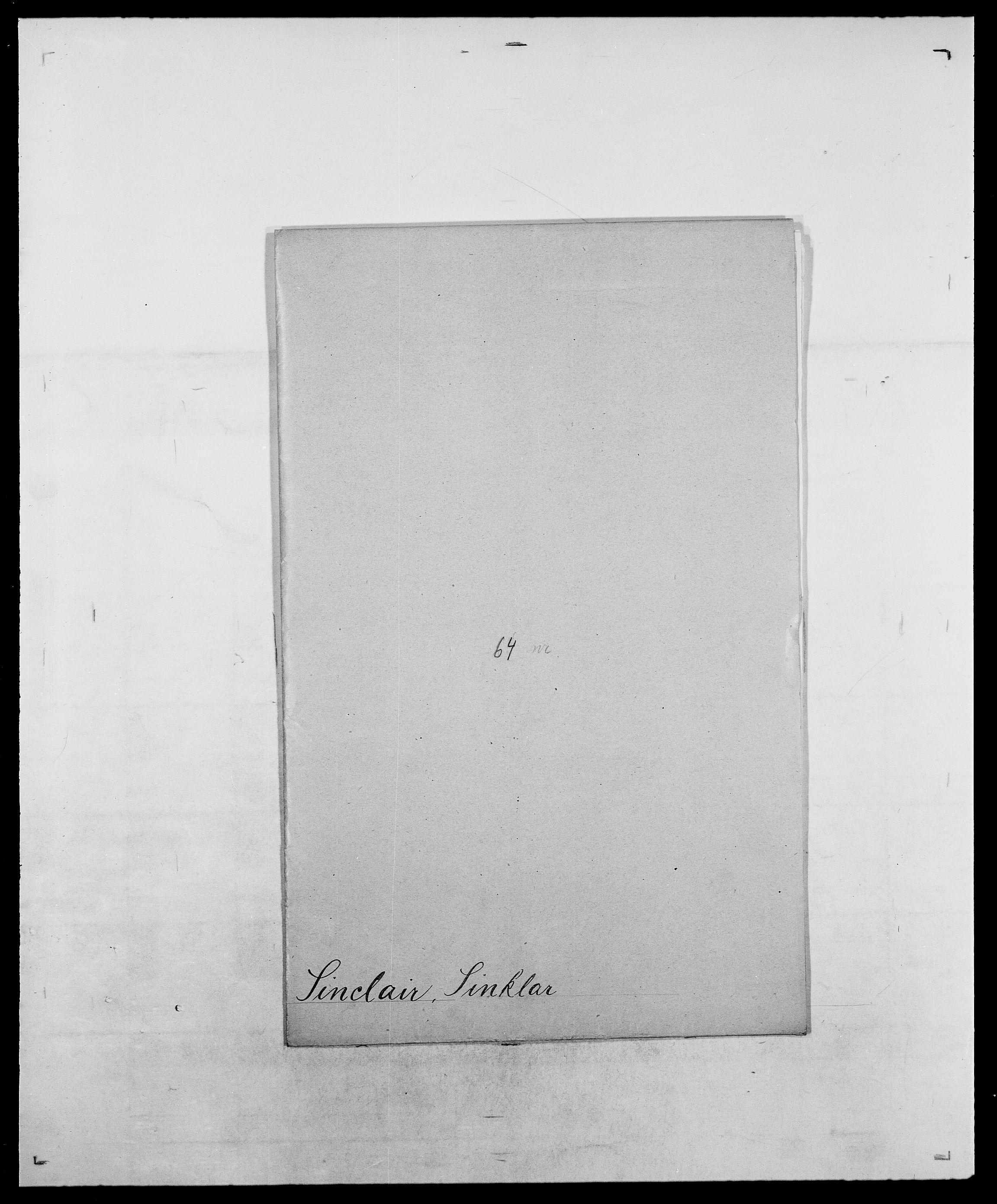 SAO, Delgobe, Charles Antoine - samling, D/Da/L0035: Schnabel - sjetman, s. 827
