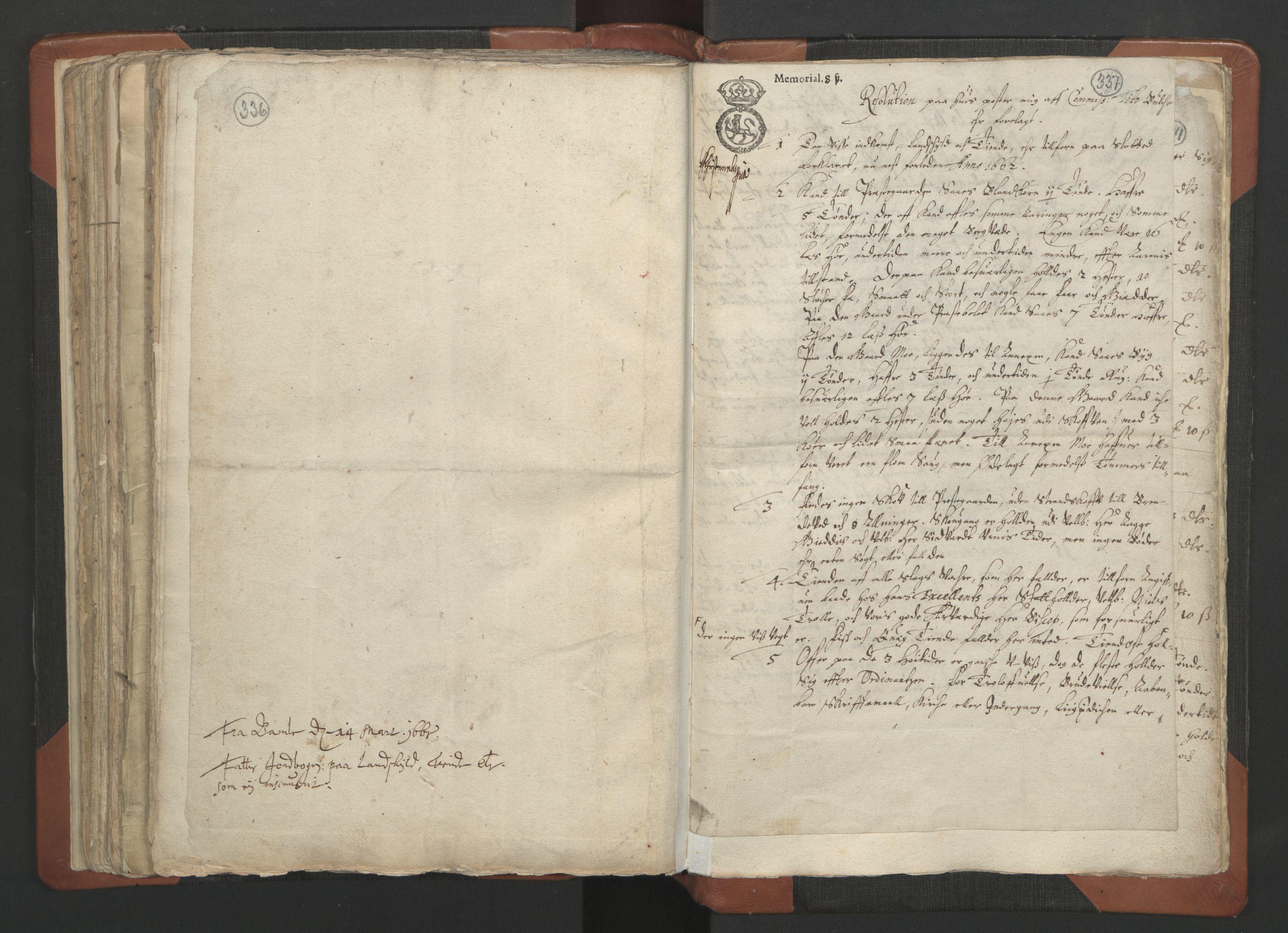 RA, Sogneprestenes manntall 1664-1666, nr. 12: Øvre Telemark prosti, Nedre Telemark prosti og Bamble prosti, 1664-1666, s. 336-337