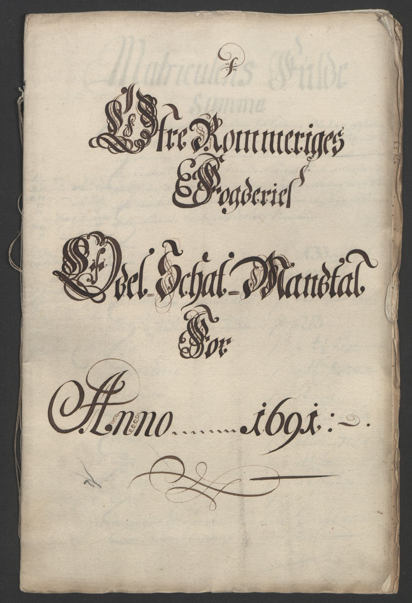 RA, Rentekammeret inntil 1814, Reviderte regnskaper, Fogderegnskap, R12/L0703: Fogderegnskap Øvre Romerike, 1691, s. 197