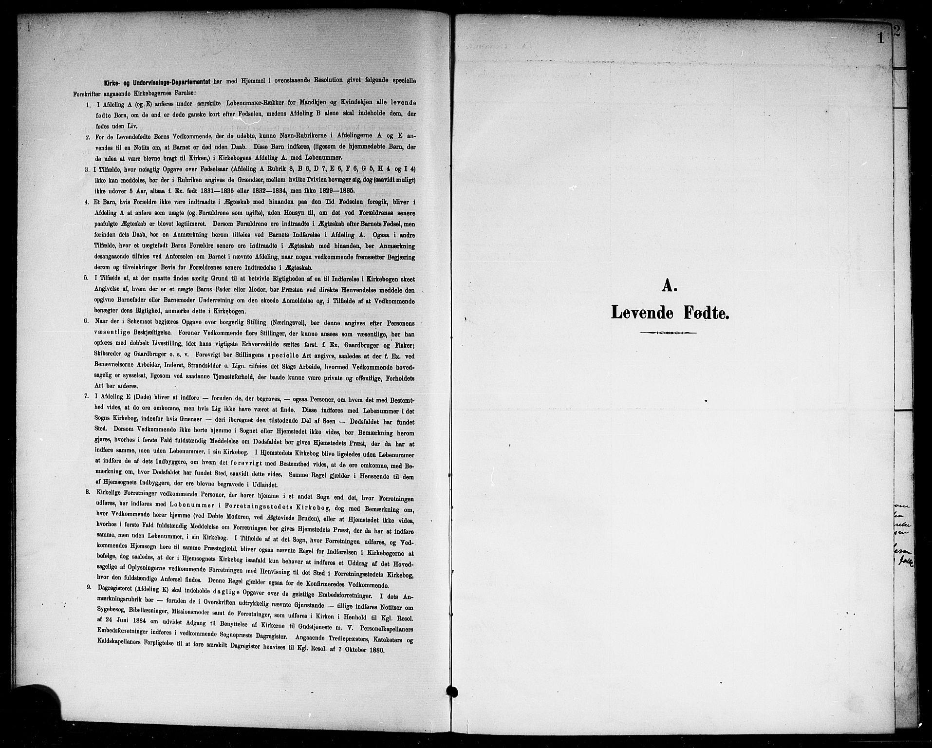 SAKO, Skåtøy kirkebøker, G/Ga/L0004: Klokkerbok nr. I 4, 1898-1916, s. 1