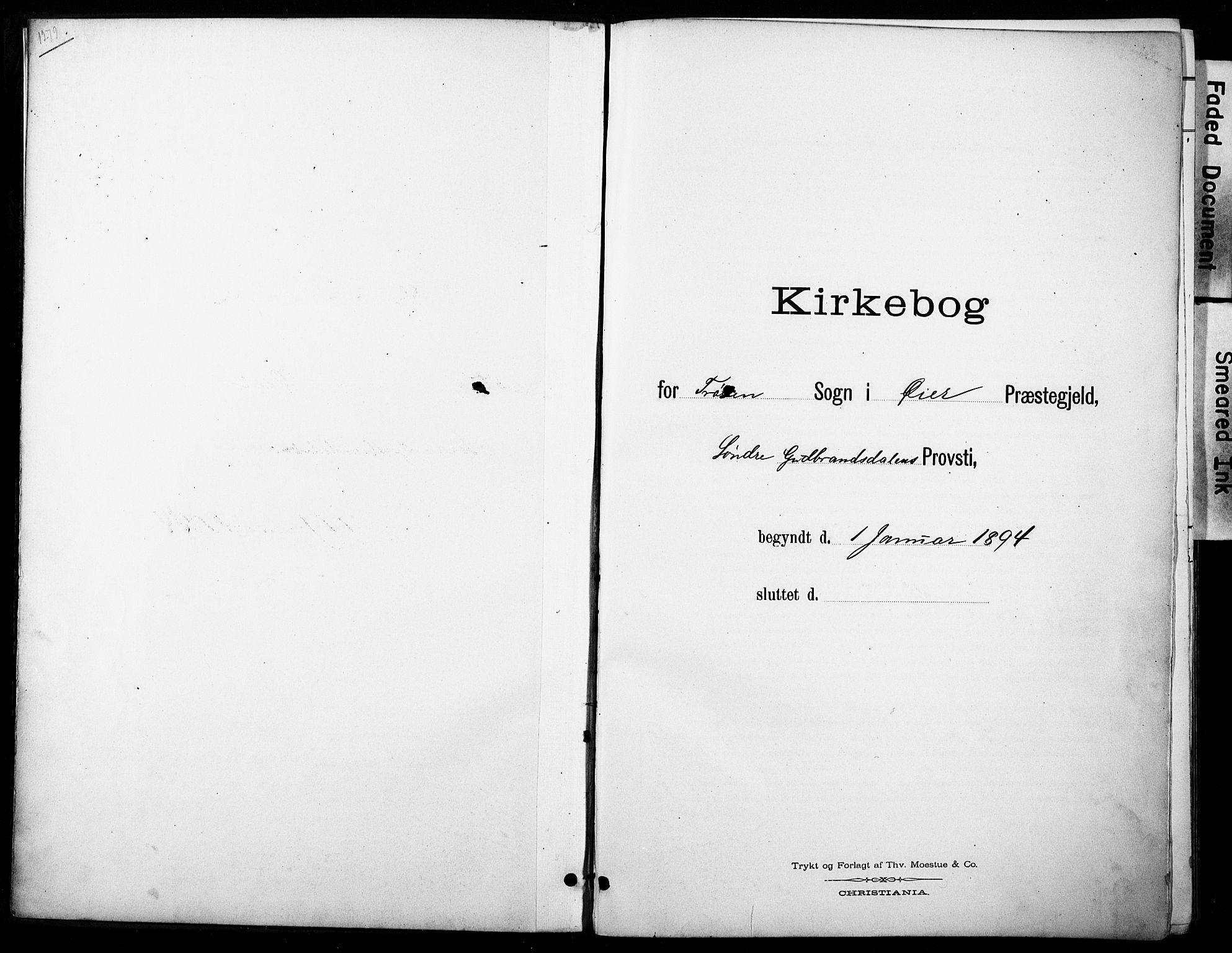 SAH, Øyer prestekontor, Ministerialbok nr. 11, 1894-1905
