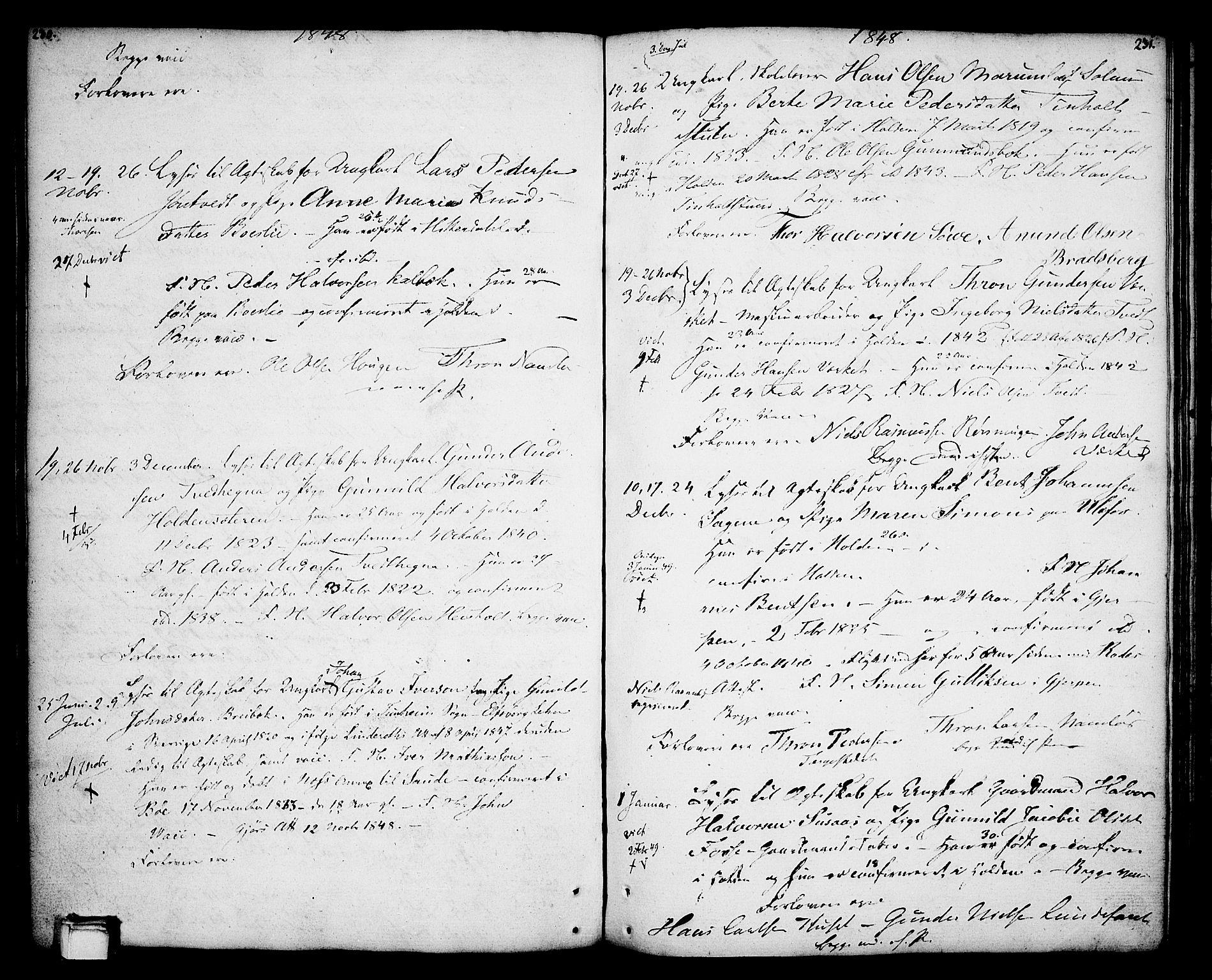 SAKO, Holla kirkebøker, F/Fa/L0002: Ministerialbok nr. 2, 1779-1814, s. 230-231