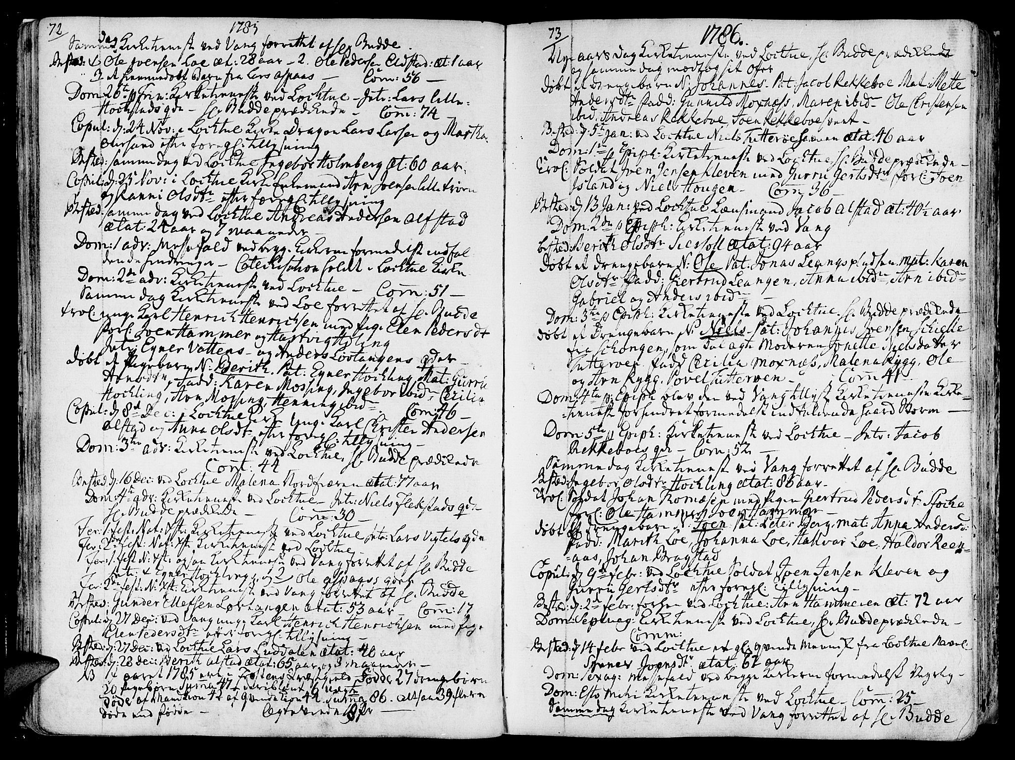 SAT, Ministerialprotokoller, klokkerbøker og fødselsregistre - Nord-Trøndelag, 713/L0110: Ministerialbok nr. 713A02, 1778-1811, s. 72-73