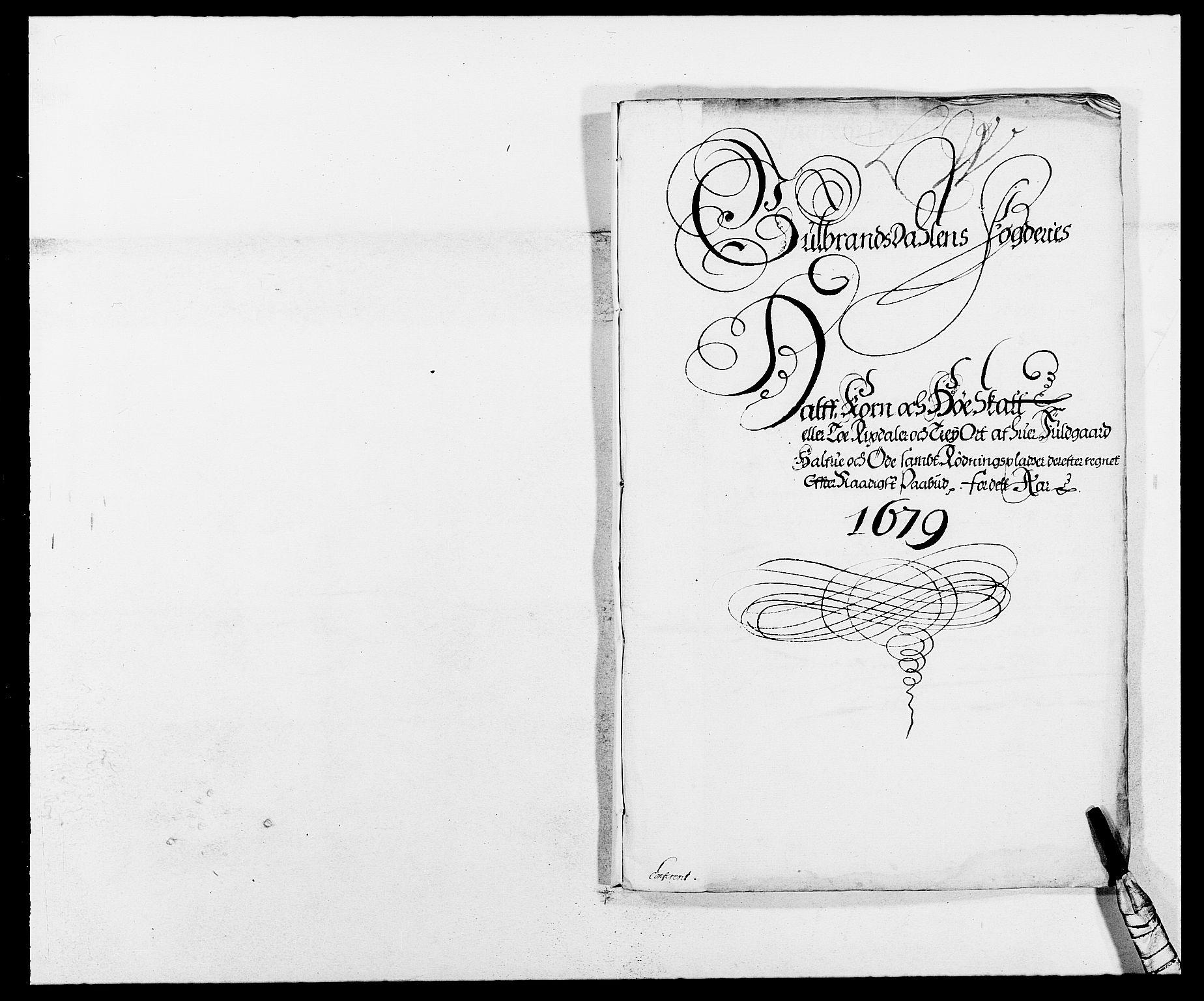 RA, Rentekammeret inntil 1814, Reviderte regnskaper, Fogderegnskap, R17/L1153: Fogderegnskap Gudbrandsdal, 1678-1679, s. 307
