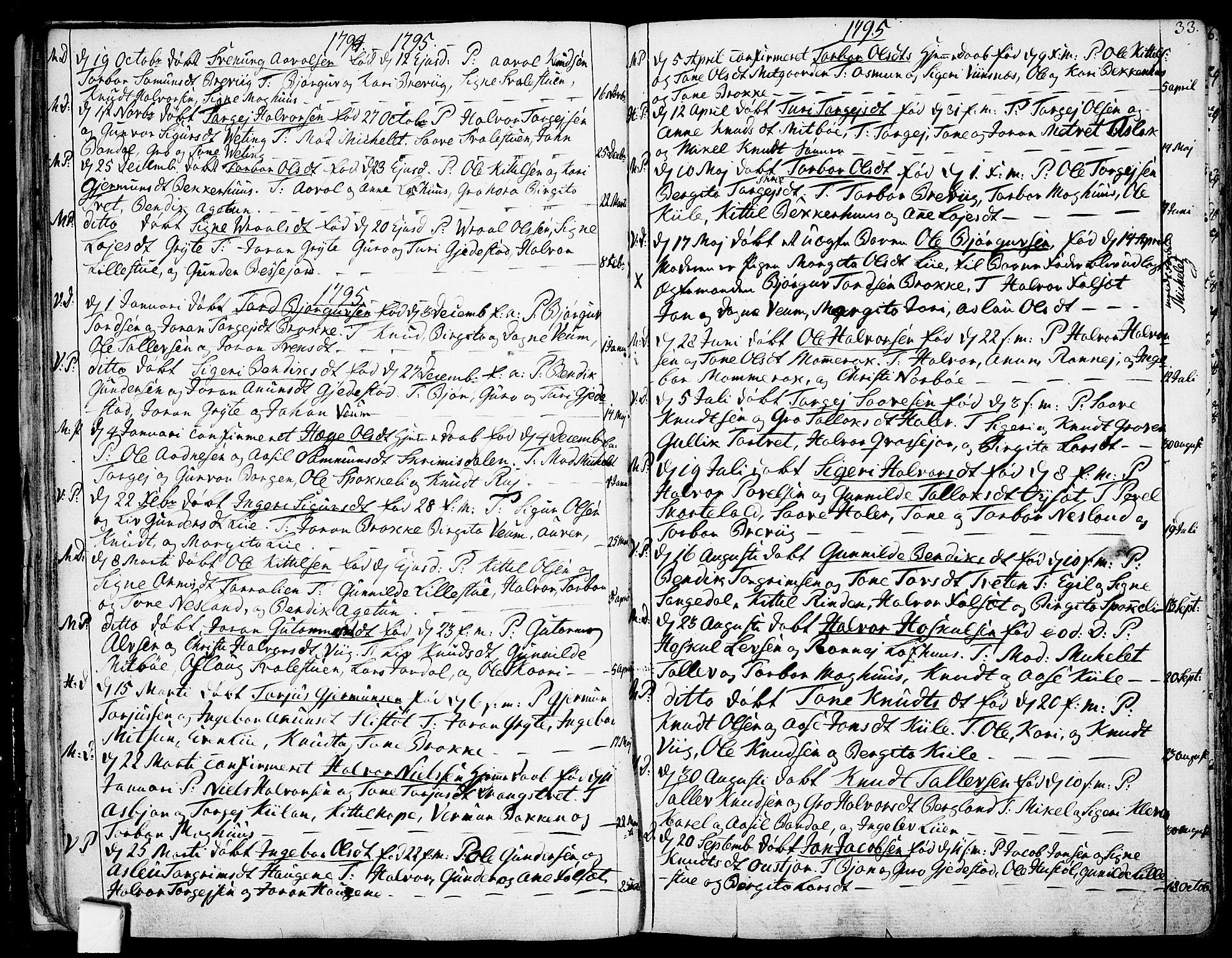 SAKO, Fyresdal kirkebøker, F/Fa/L0002: Ministerialbok nr. I 2, 1769-1814, s. 33