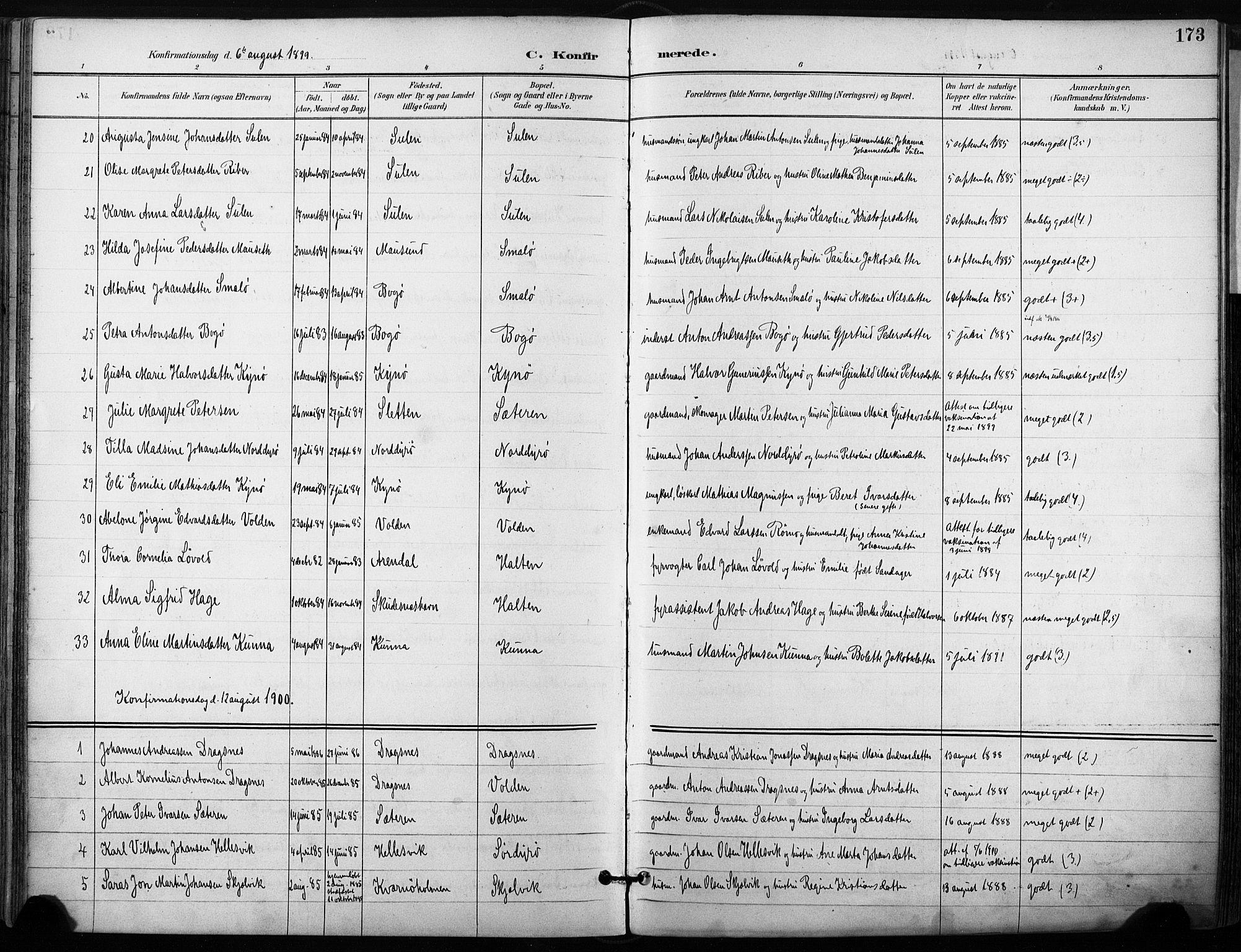 SAT, Ministerialprotokoller, klokkerbøker og fødselsregistre - Sør-Trøndelag, 640/L0579: Ministerialbok nr. 640A04, 1889-1902, s. 173