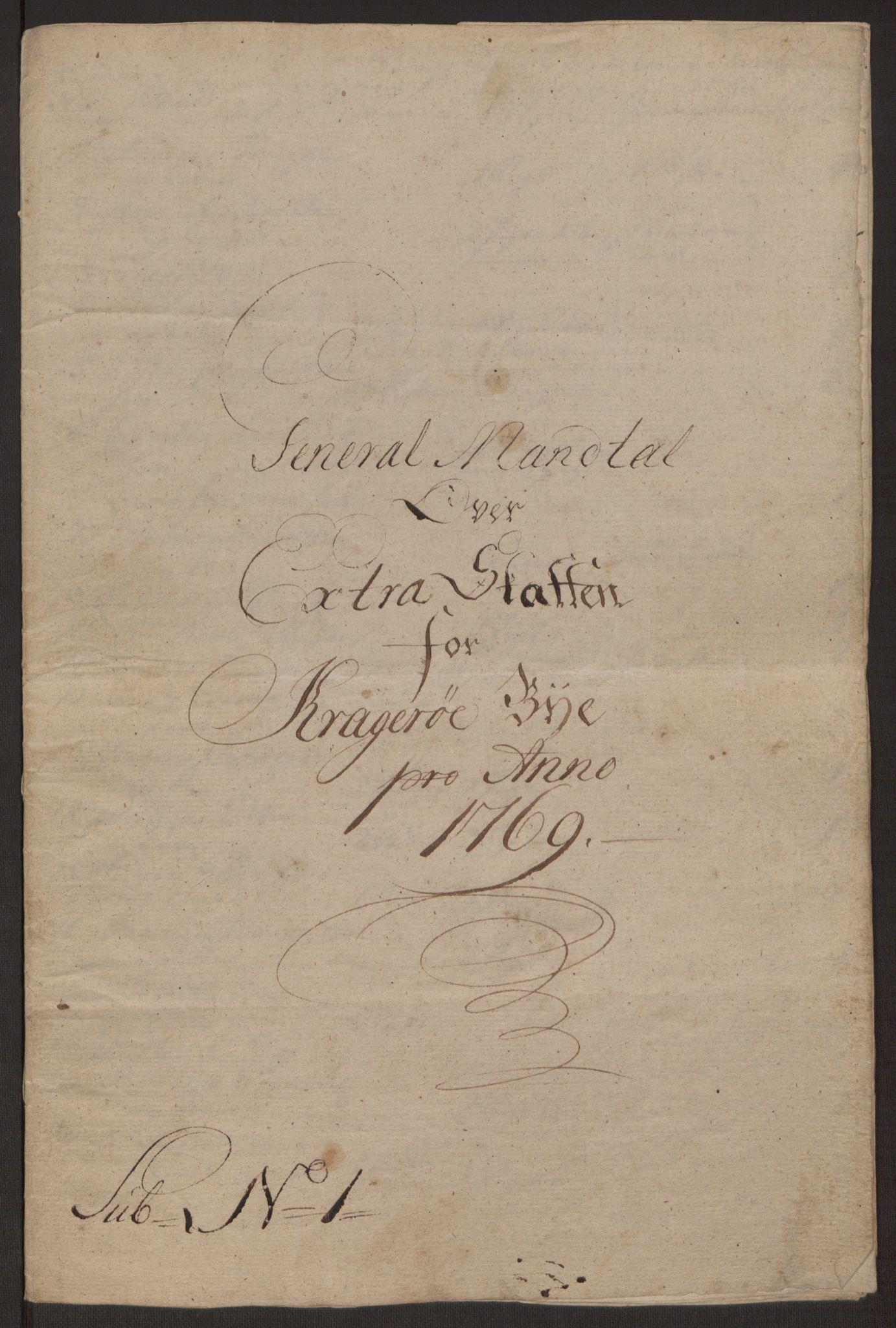 RA, Rentekammeret inntil 1814, Reviderte regnskaper, Byregnskaper, R/Rk/L0218: [K2] Kontribusjonsregnskap, 1768-1772, s. 29