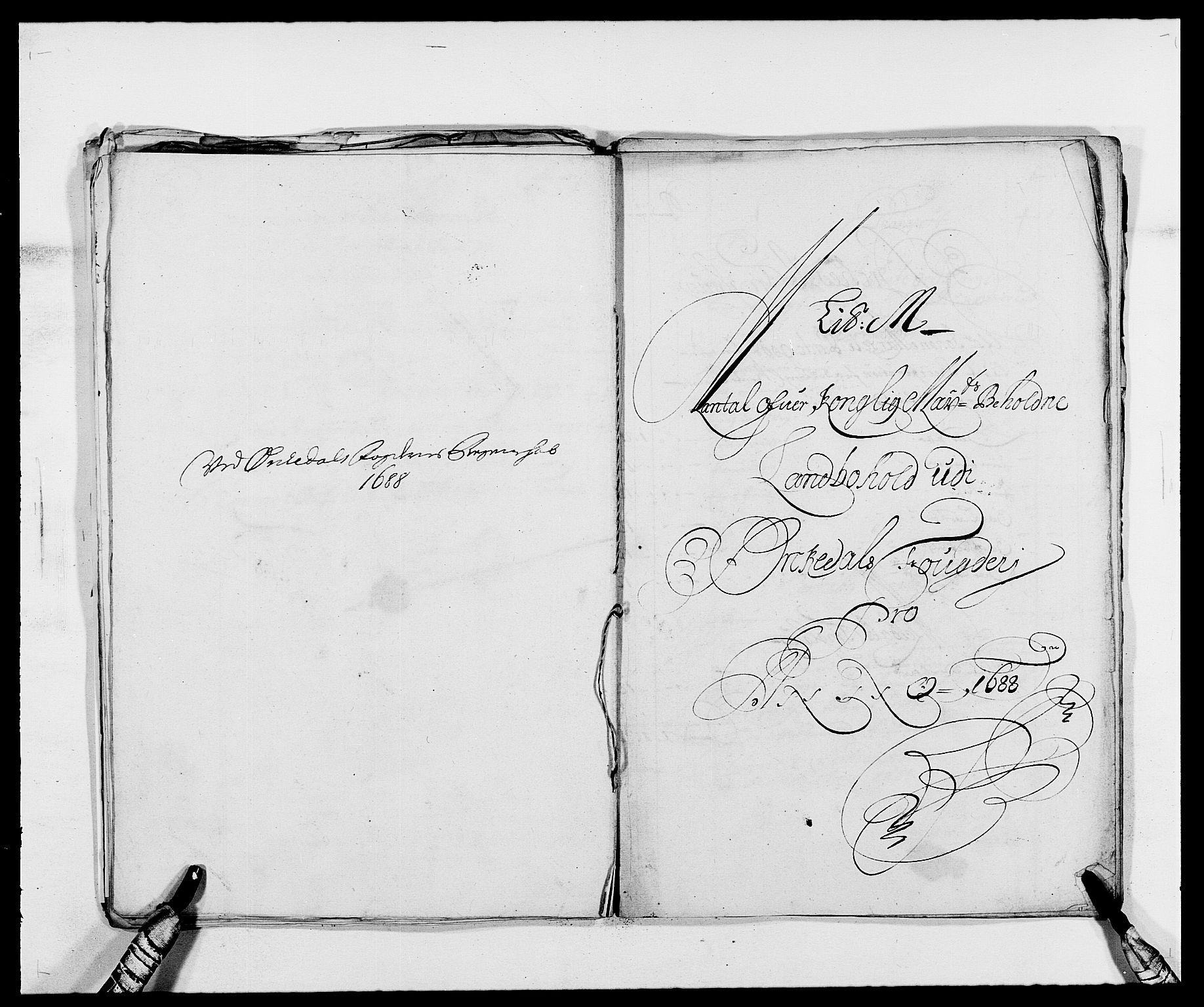 RA, Rentekammeret inntil 1814, Reviderte regnskaper, Fogderegnskap, R58/L3935: Fogderegnskap Orkdal, 1687-1688, s. 333