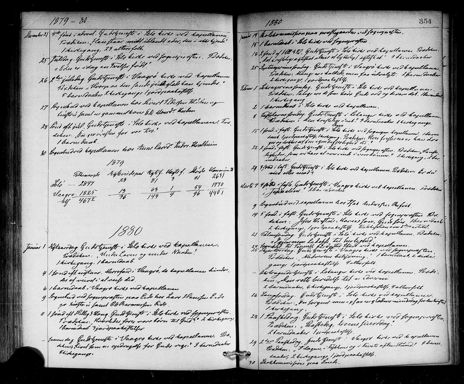 SAB, Selje sokneprestembete*, Ministerialbok nr. A 12, 1870-1880, s. 354