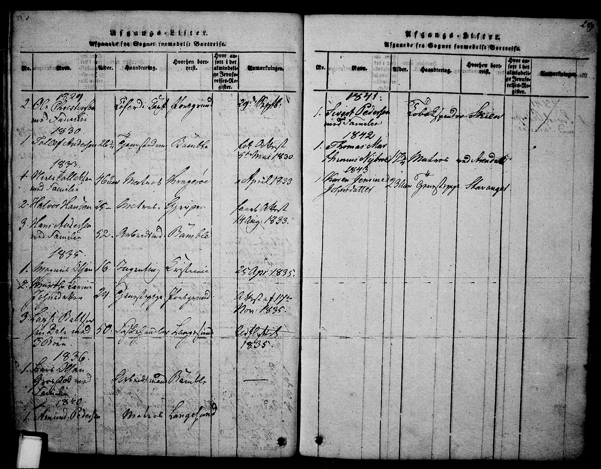 SAKO, Brevik kirkebøker, F/Fa/L0004: Ministerialbok nr. 4, 1814-1846, s. 289