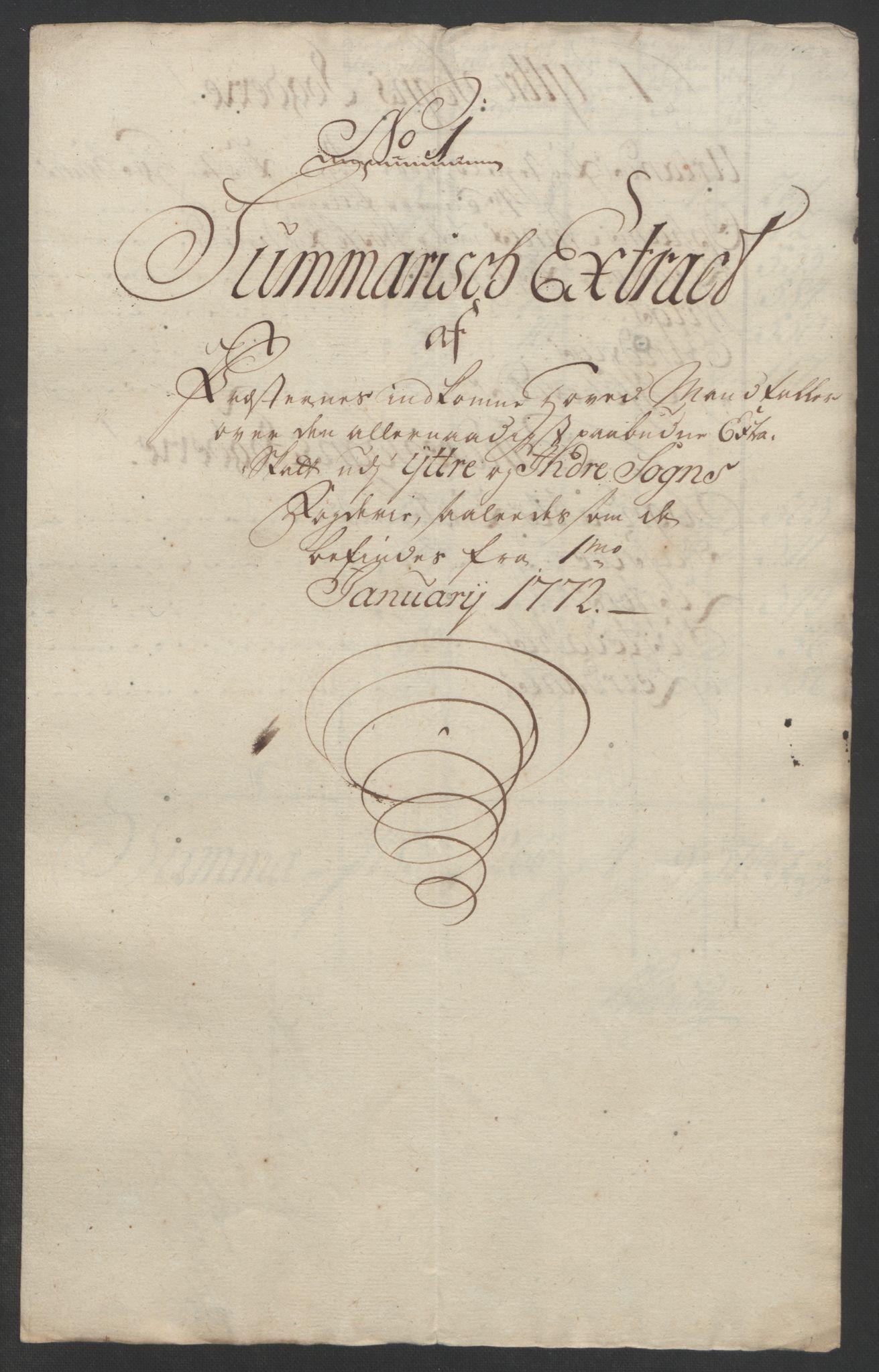 RA, Rentekammeret inntil 1814, Realistisk ordnet avdeling, Ol/L0018: [Gg 10]: Ekstraskatten, 23.09.1762. Sogn, 1762-1772, s. 368