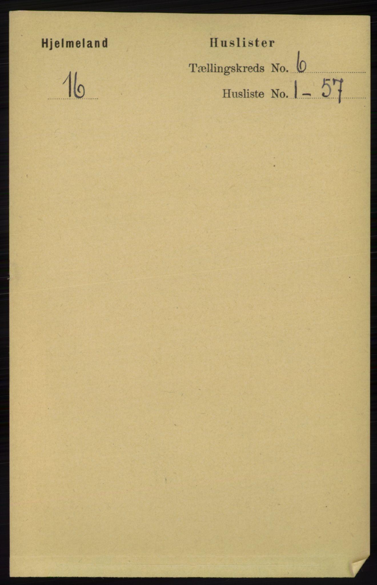RA, Folketelling 1891 for 1133 Hjelmeland herred, 1891, s. 1496