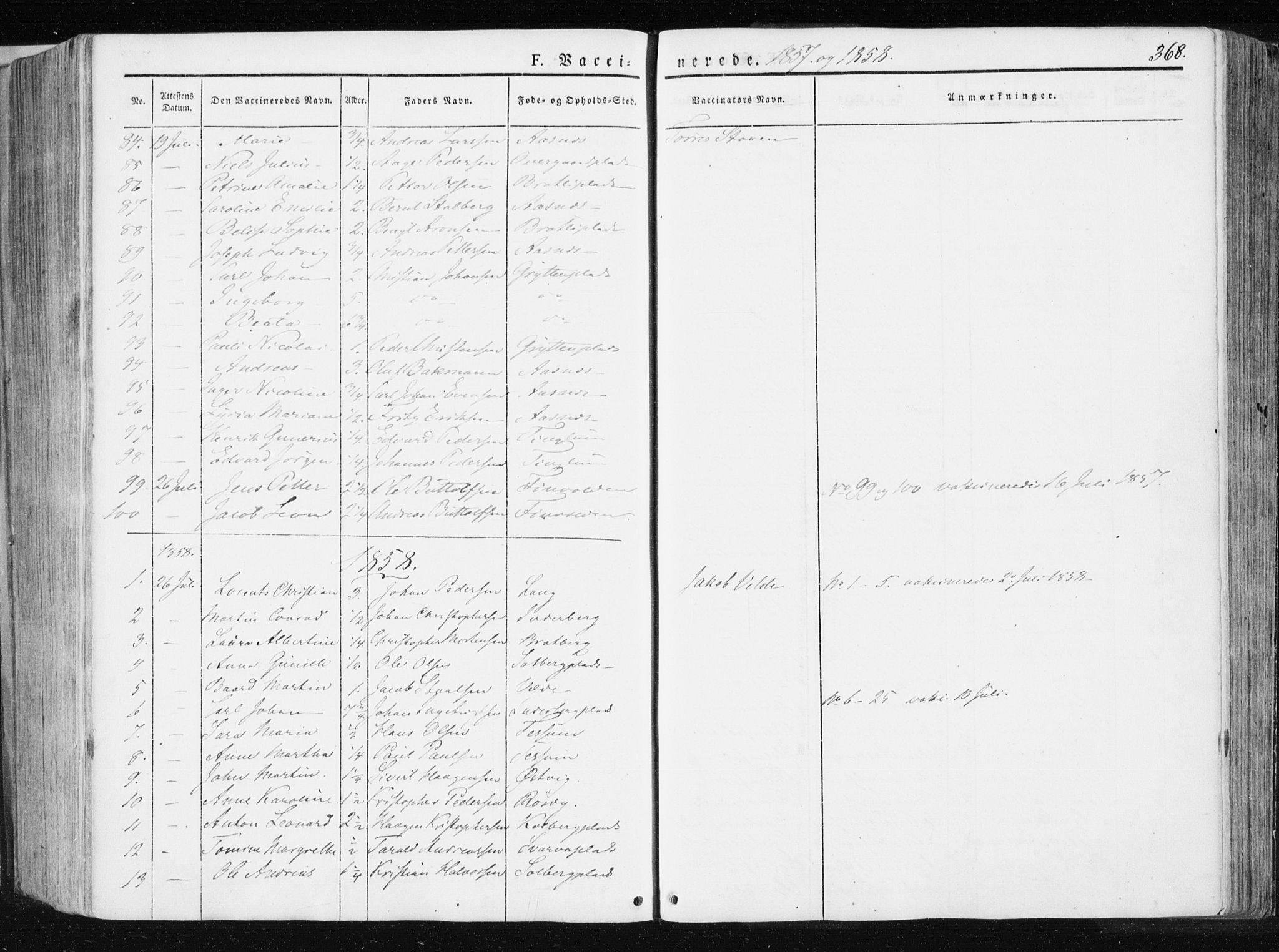 SAT, Ministerialprotokoller, klokkerbøker og fødselsregistre - Nord-Trøndelag, 741/L0393: Ministerialbok nr. 741A07, 1849-1863, s. 368