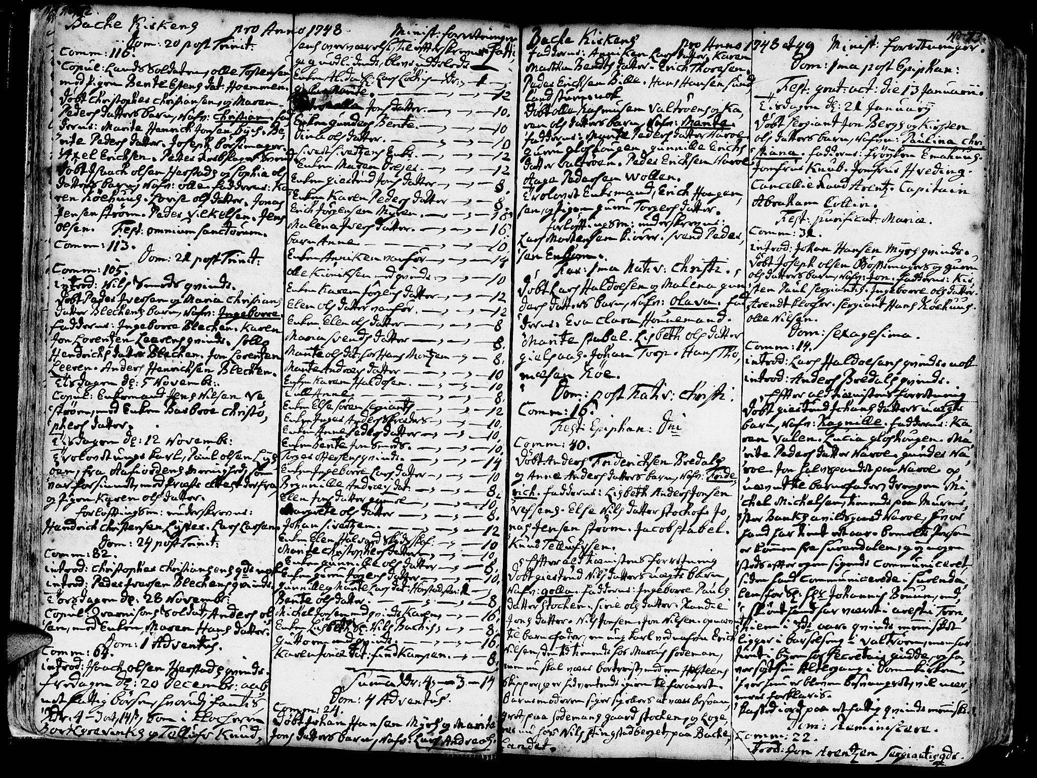 SAT, Ministerialprotokoller, klokkerbøker og fødselsregistre - Sør-Trøndelag, 606/L0276: Ministerialbok nr. 606A01 /2, 1727-1779, s. 72-73