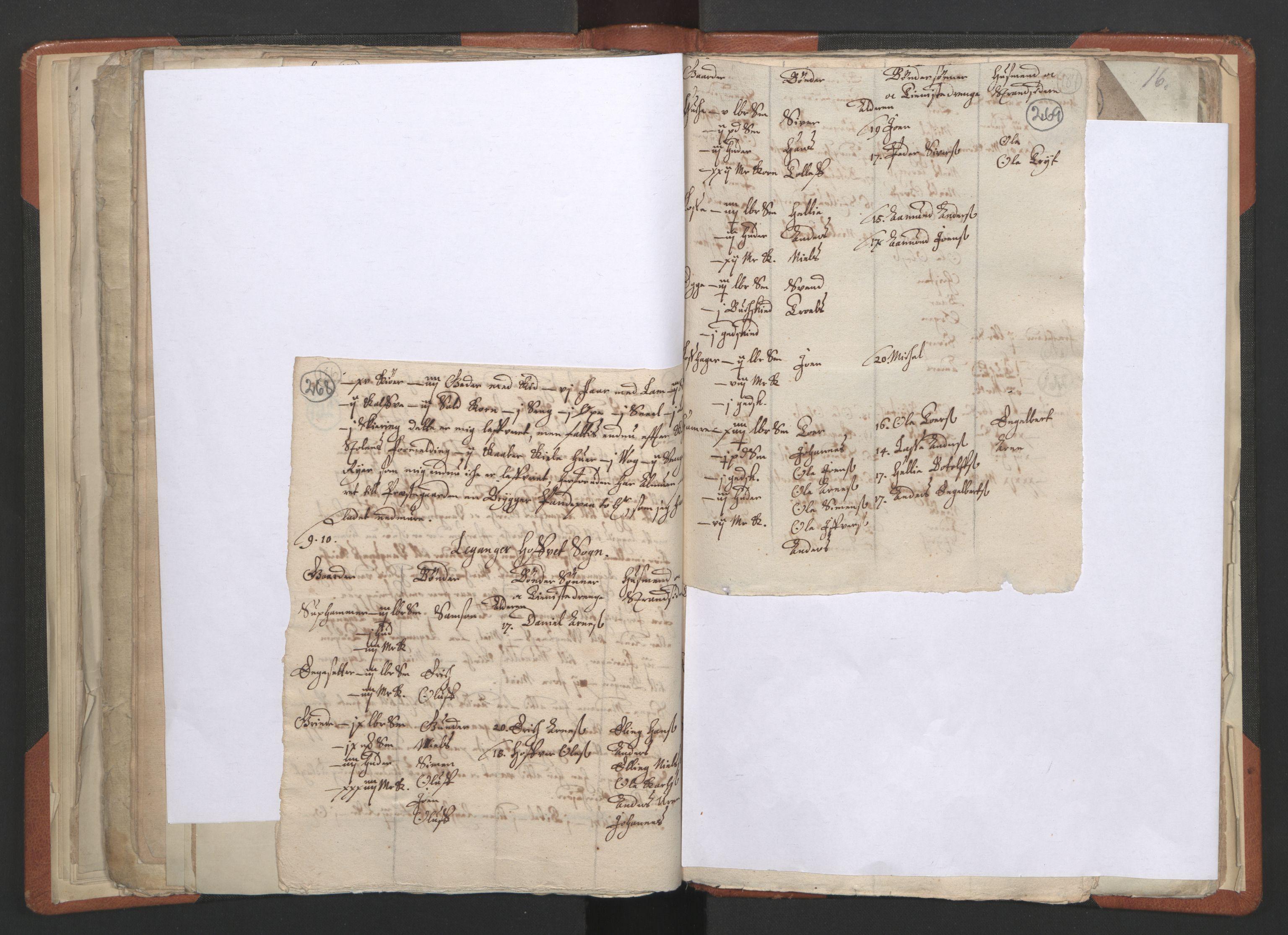 RA, Sogneprestenes manntall 1664-1666, nr. 23: Sogn prosti, 1664-1666, s. 268-269