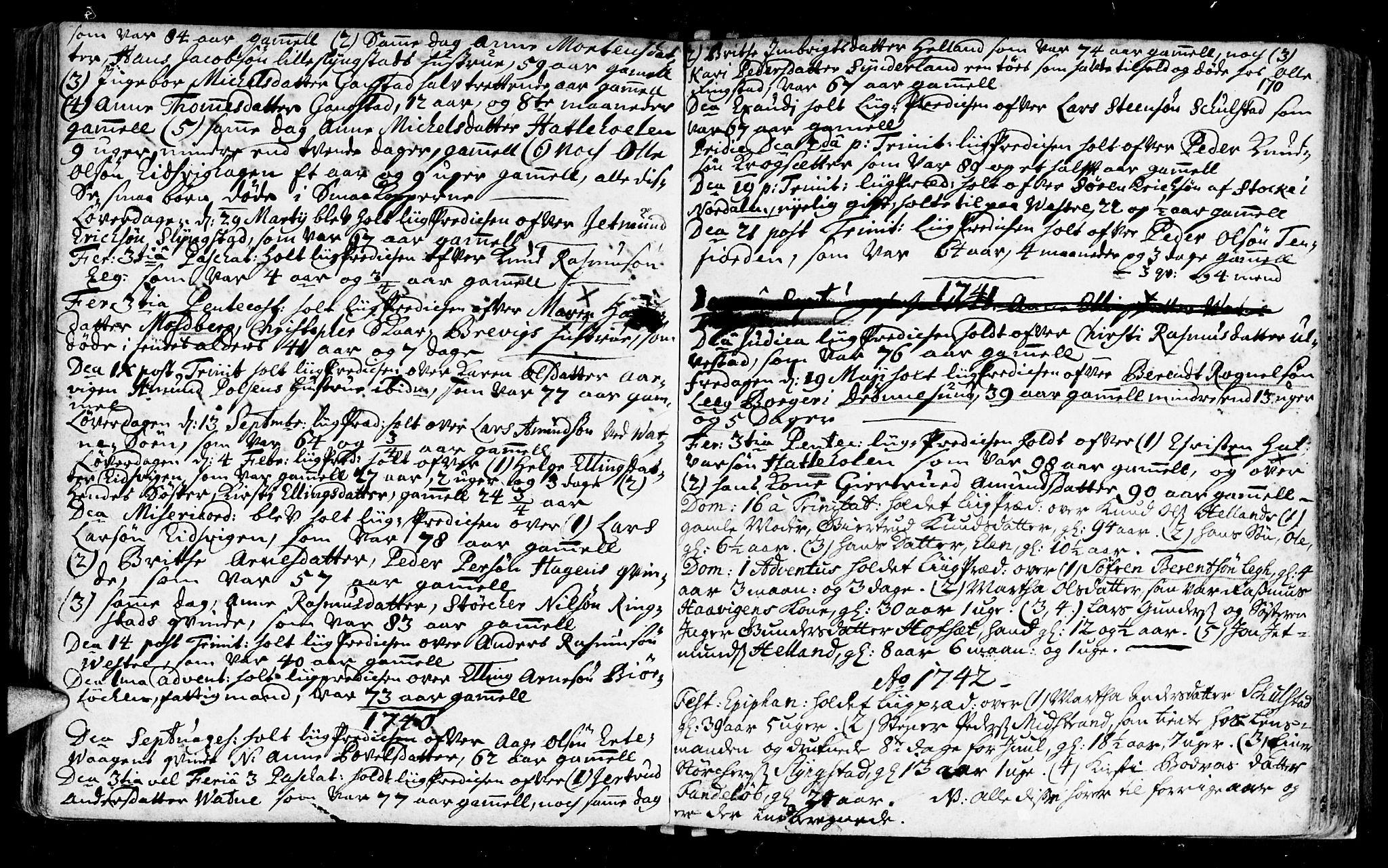 SAT, Ministerialprotokoller, klokkerbøker og fødselsregistre - Møre og Romsdal, 525/L0371: Ministerialbok nr. 525A01, 1699-1777, s. 170