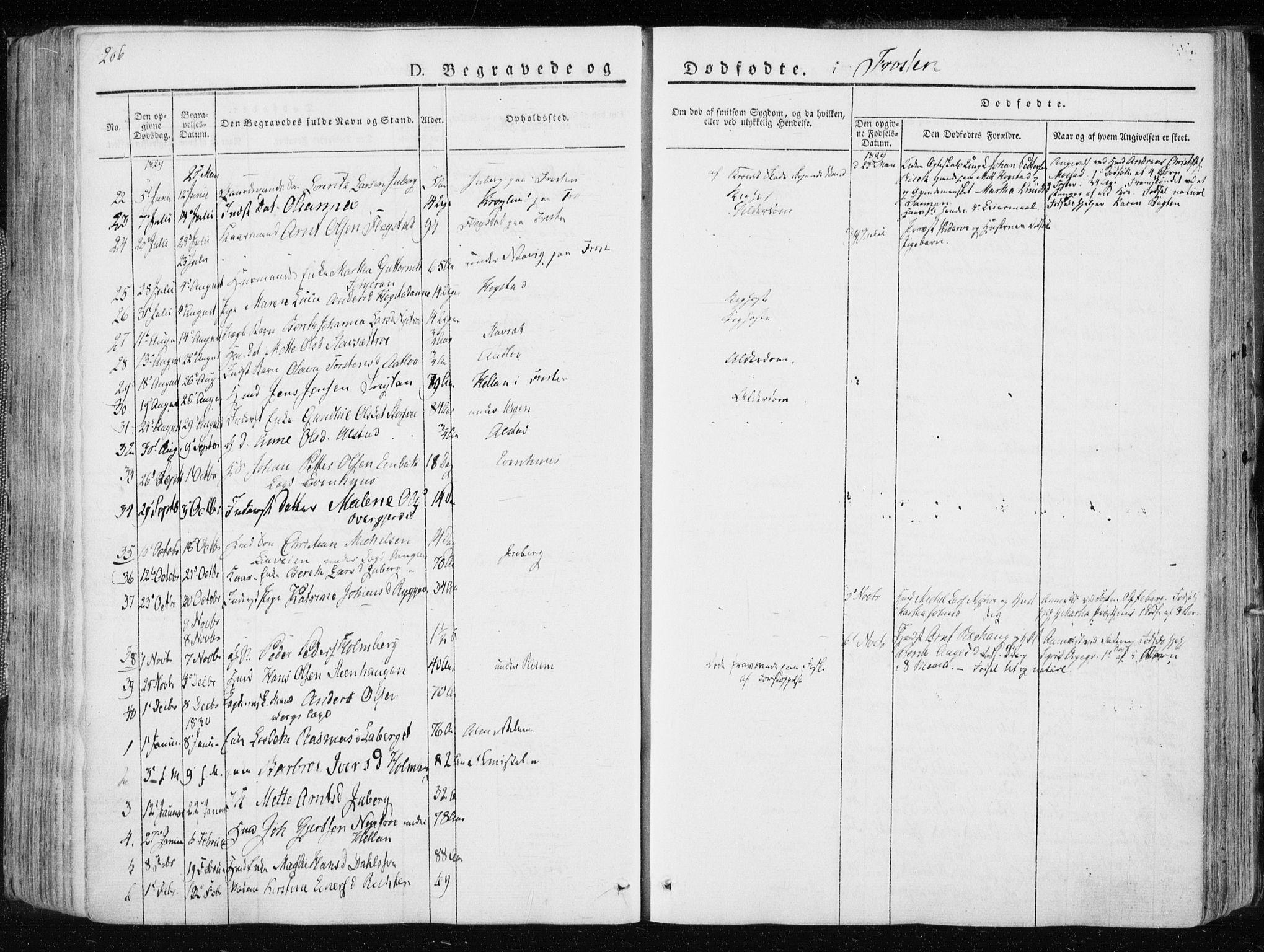 SAT, Ministerialprotokoller, klokkerbøker og fødselsregistre - Nord-Trøndelag, 713/L0114: Ministerialbok nr. 713A05, 1827-1839, s. 206