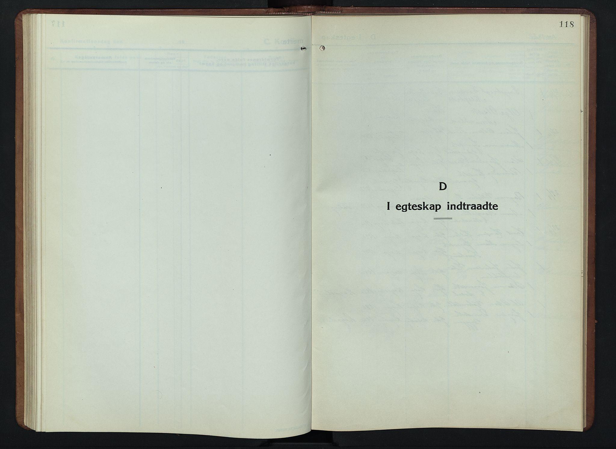 SAH, Lesja prestekontor, Klokkerbok nr. 9, 1924-1947, s. 118