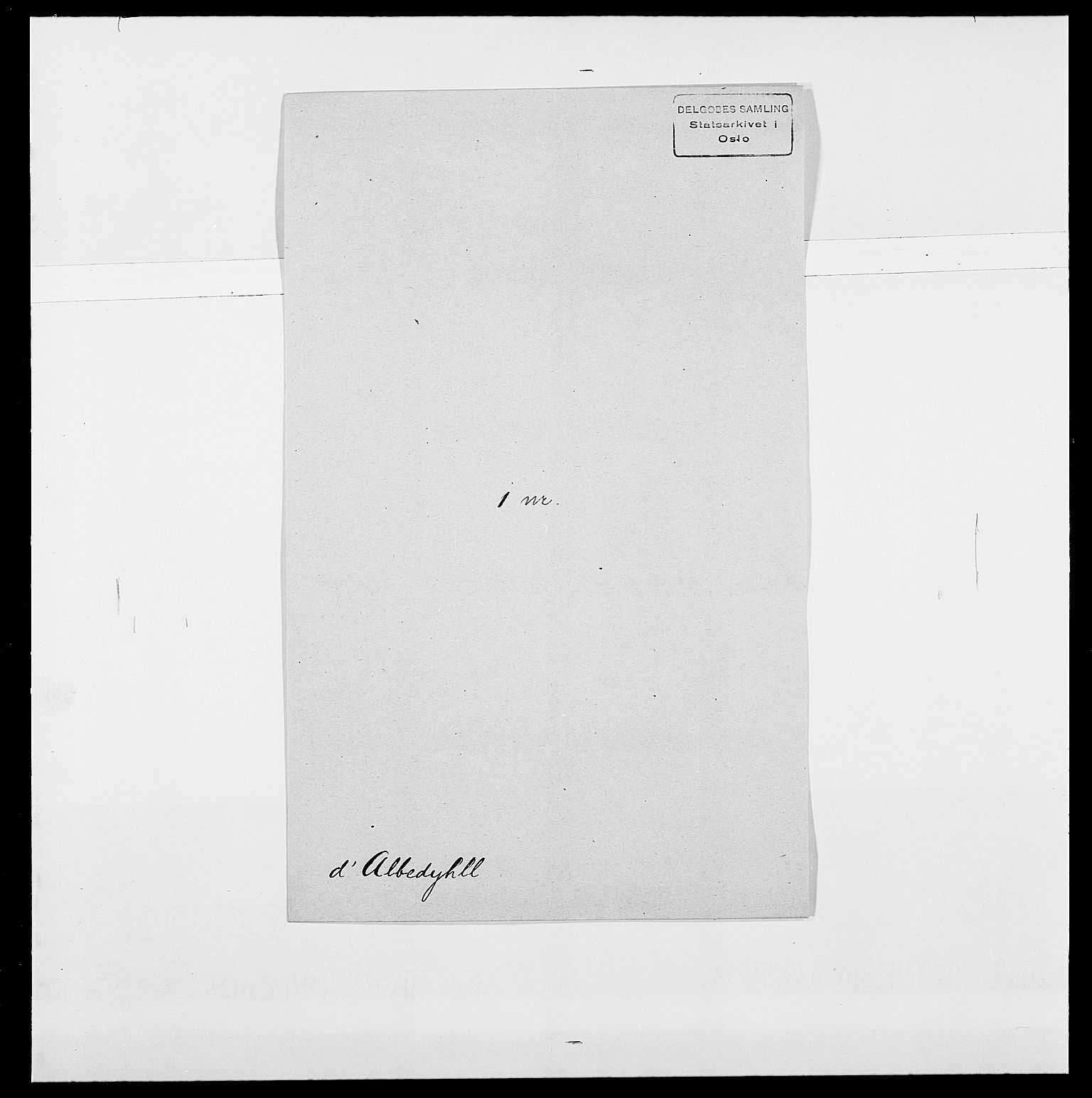 SAO, Delgobe, Charles Antoine - samling, D/Da/L0001: Aabye - Angerman, s. 362