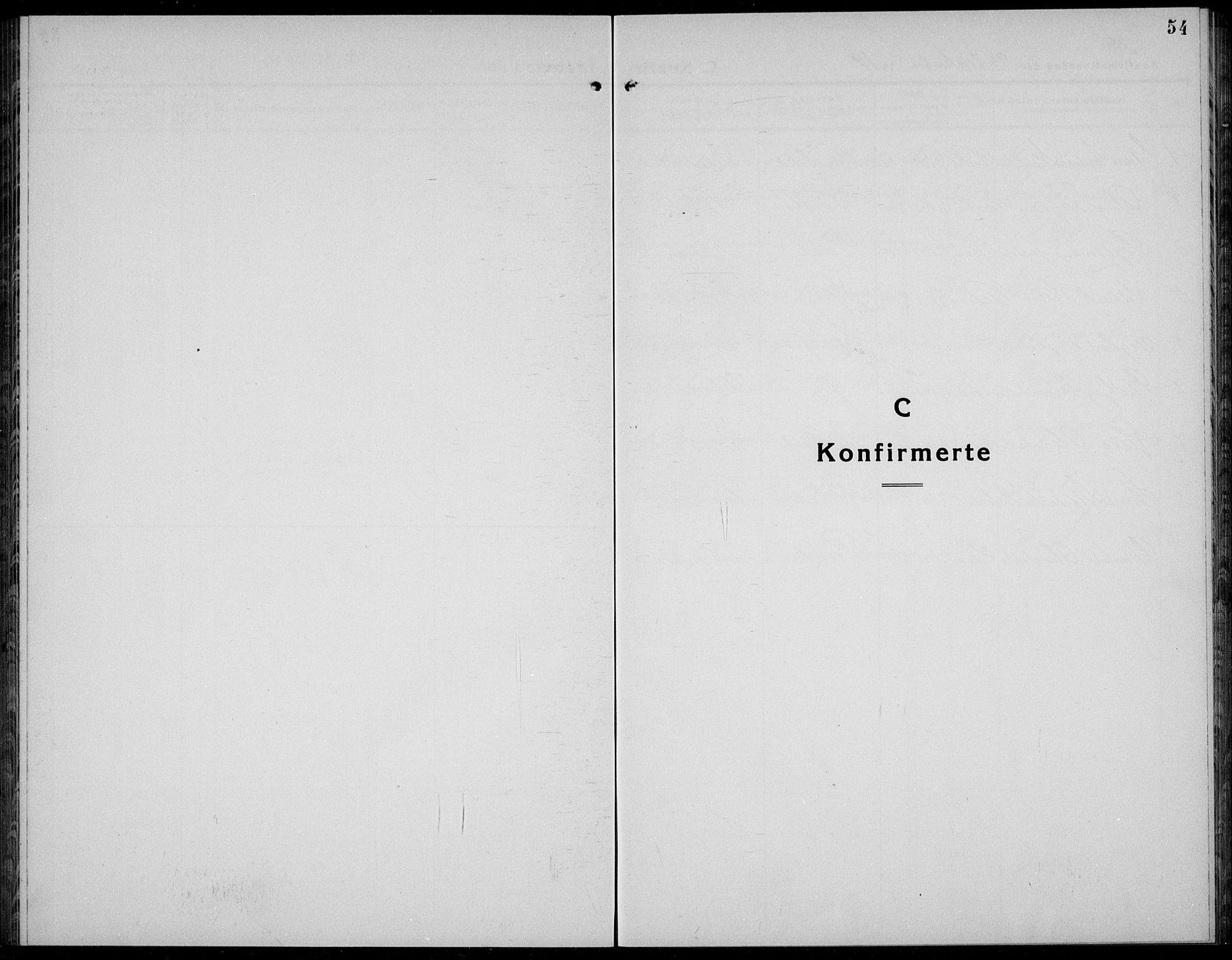 SAKO, Kviteseid kirkebøker, G/Gc/L0002: Klokkerbok nr. III 2, 1917-1937, s. 54