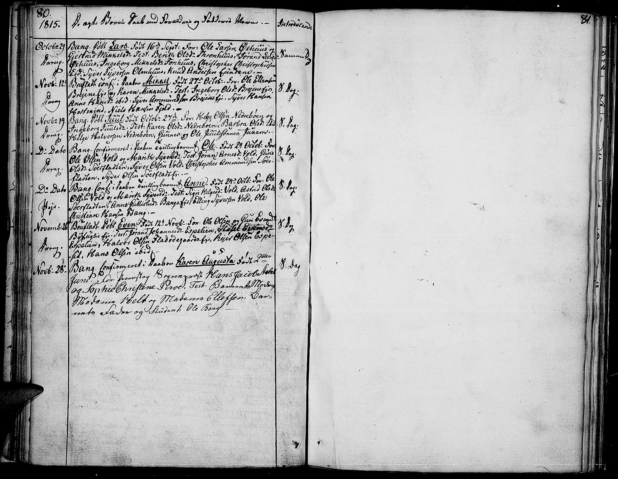 SAH, Sør-Aurdal prestekontor, Ministerialbok nr. 1, 1807-1815, s. 80-81