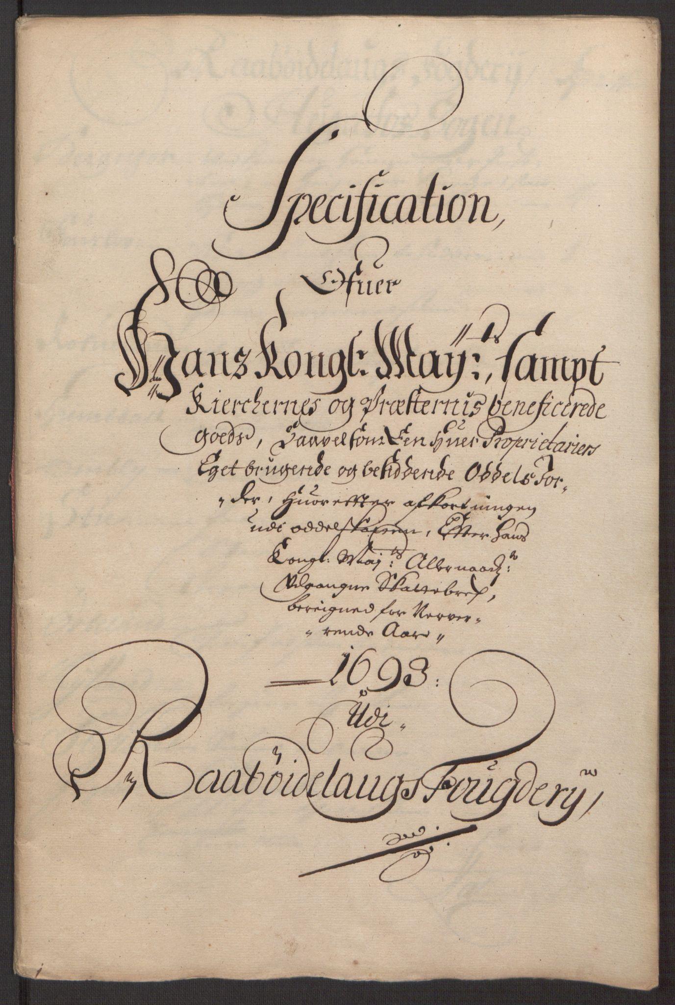 RA, Rentekammeret inntil 1814, Reviderte regnskaper, Fogderegnskap, R40/L2444: Fogderegnskap Råbyggelag, 1693-1696, s. 55