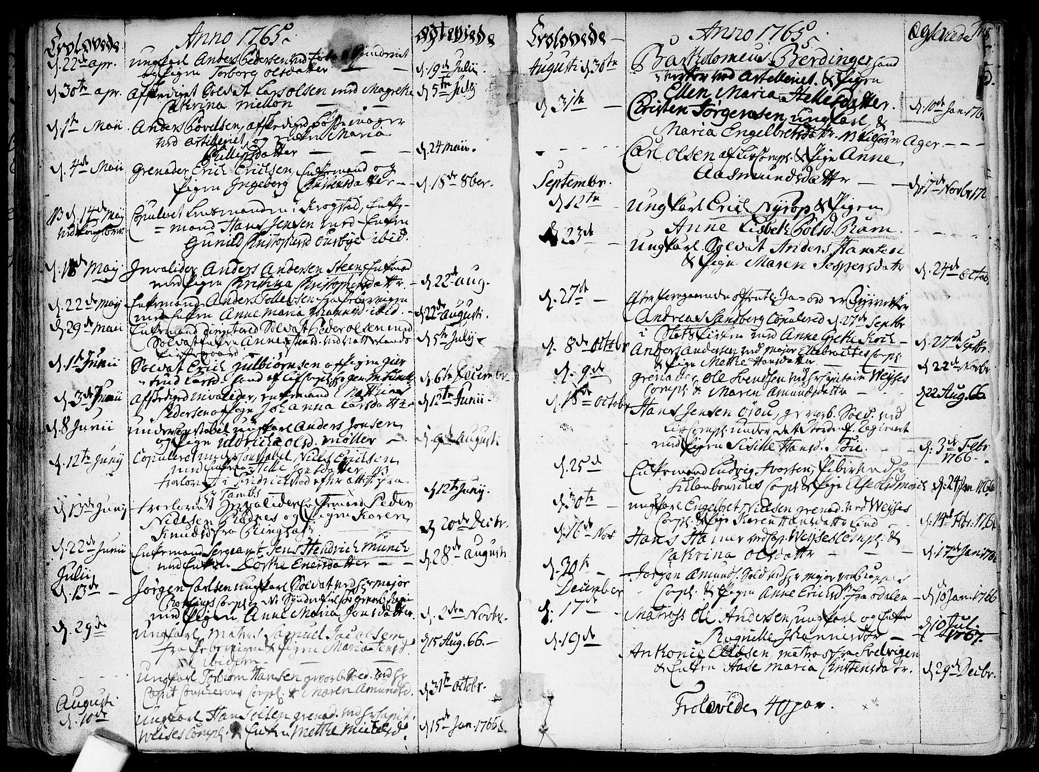 SAO, Garnisonsmenigheten Kirkebøker, F/Fa/L0002: Ministerialbok nr. 2, 1757-1776, s. 116