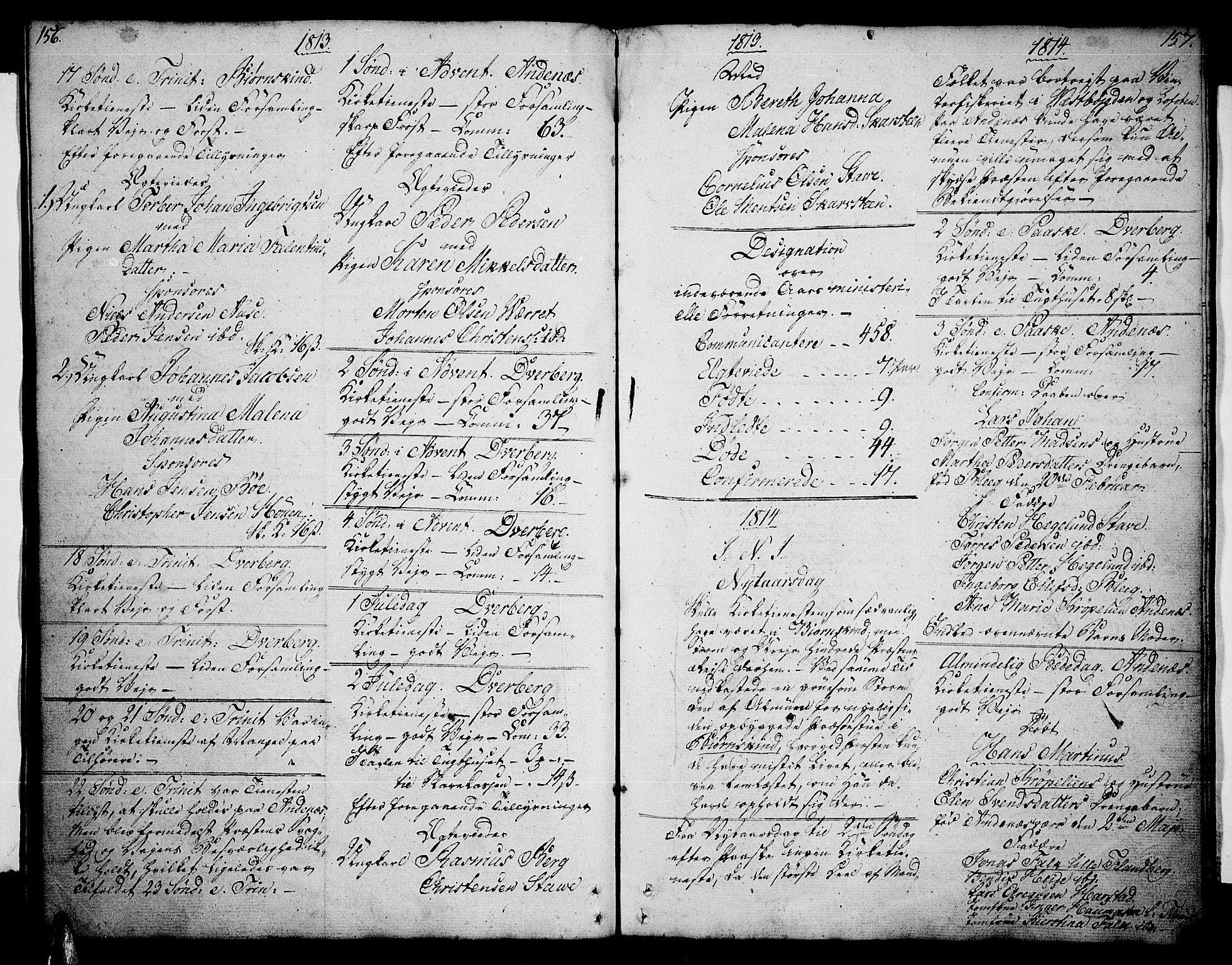 SAT, Ministerialprotokoller, klokkerbøker og fødselsregistre - Nordland, 897/L1394: Ministerialbok nr. 897A02, 1788-1820, s. 156-157