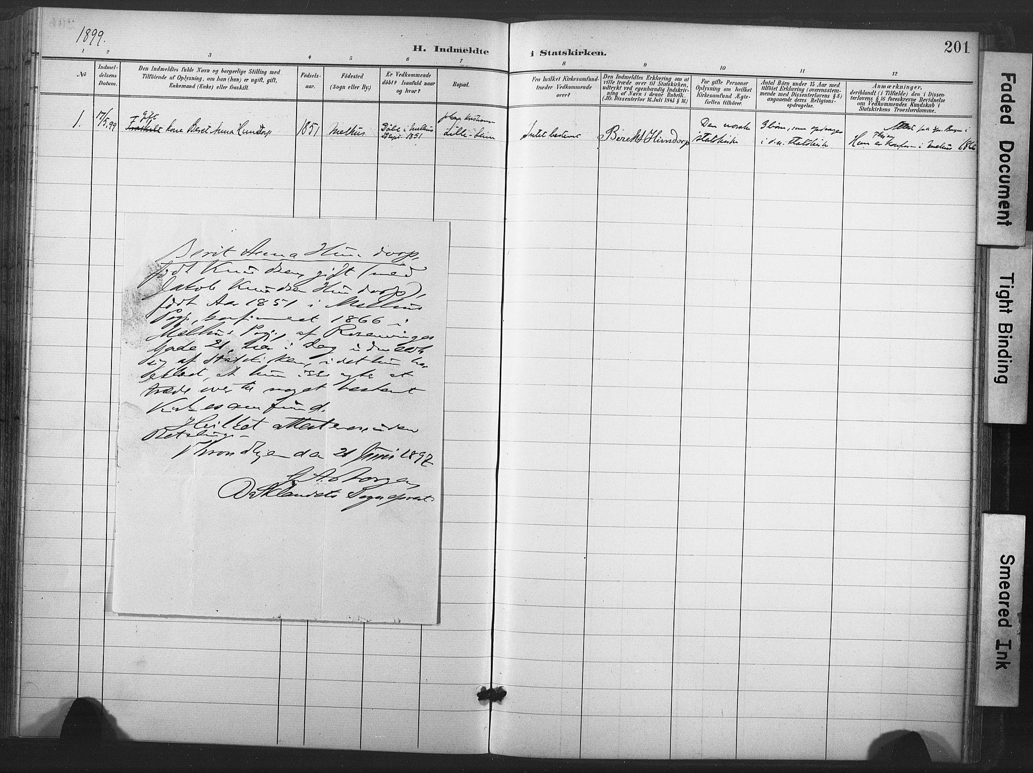 SAT, Ministerialprotokoller, klokkerbøker og fødselsregistre - Nord-Trøndelag, 713/L0122: Ministerialbok nr. 713A11, 1899-1910, s. 201