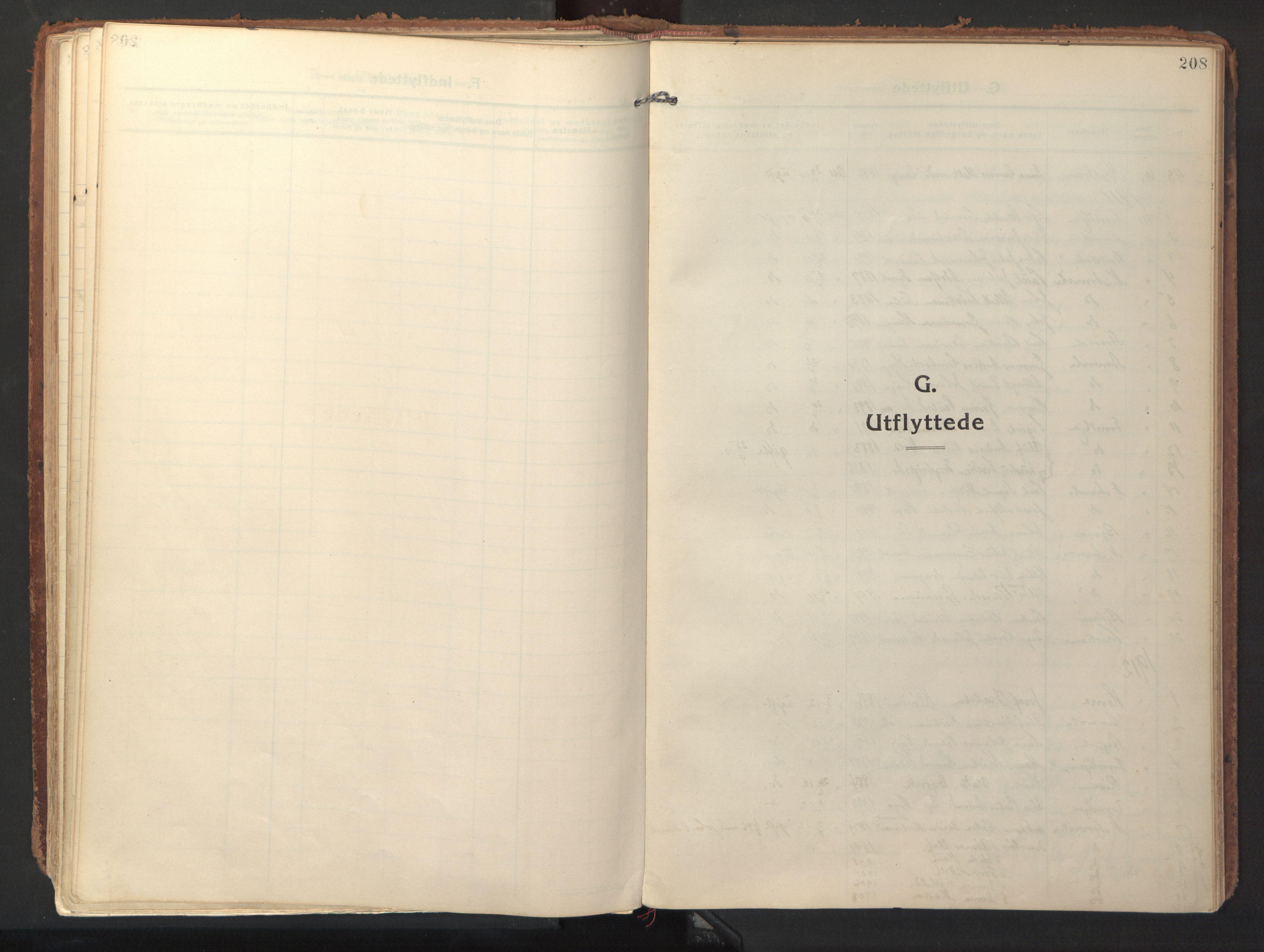 SAT, Ministerialprotokoller, klokkerbøker og fødselsregistre - Sør-Trøndelag, 640/L0581: Ministerialbok nr. 640A06, 1910-1924, s. 208
