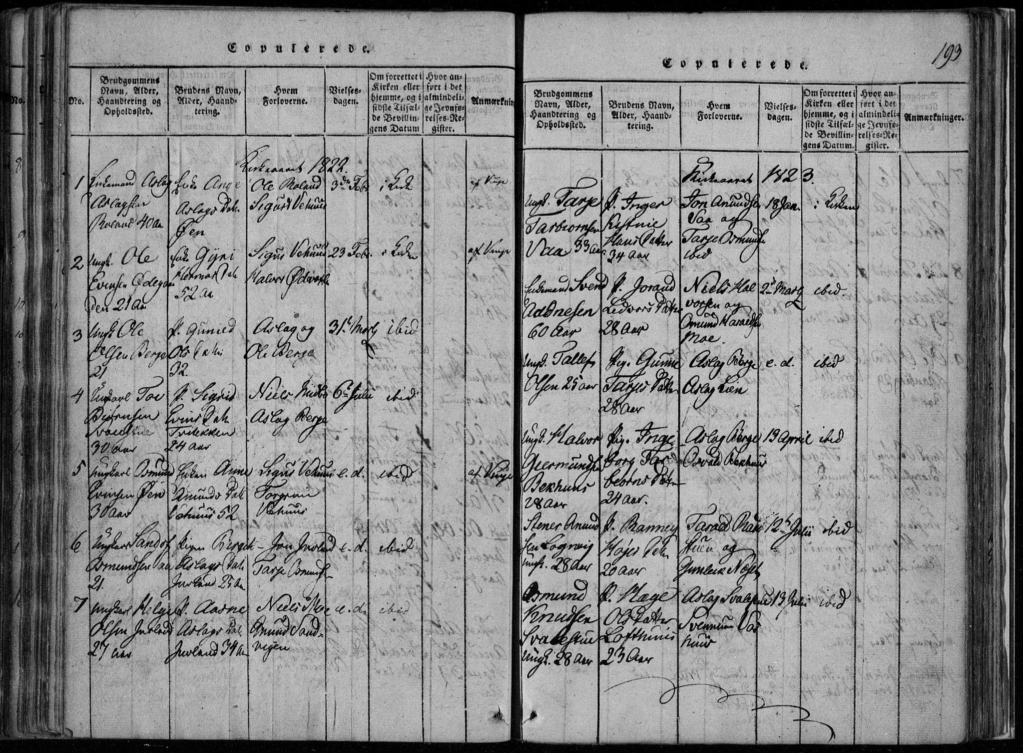 SAKO, Rauland kirkebøker, F/Fa/L0001: Ministerialbok nr. 1, 1814-1859, s. 193
