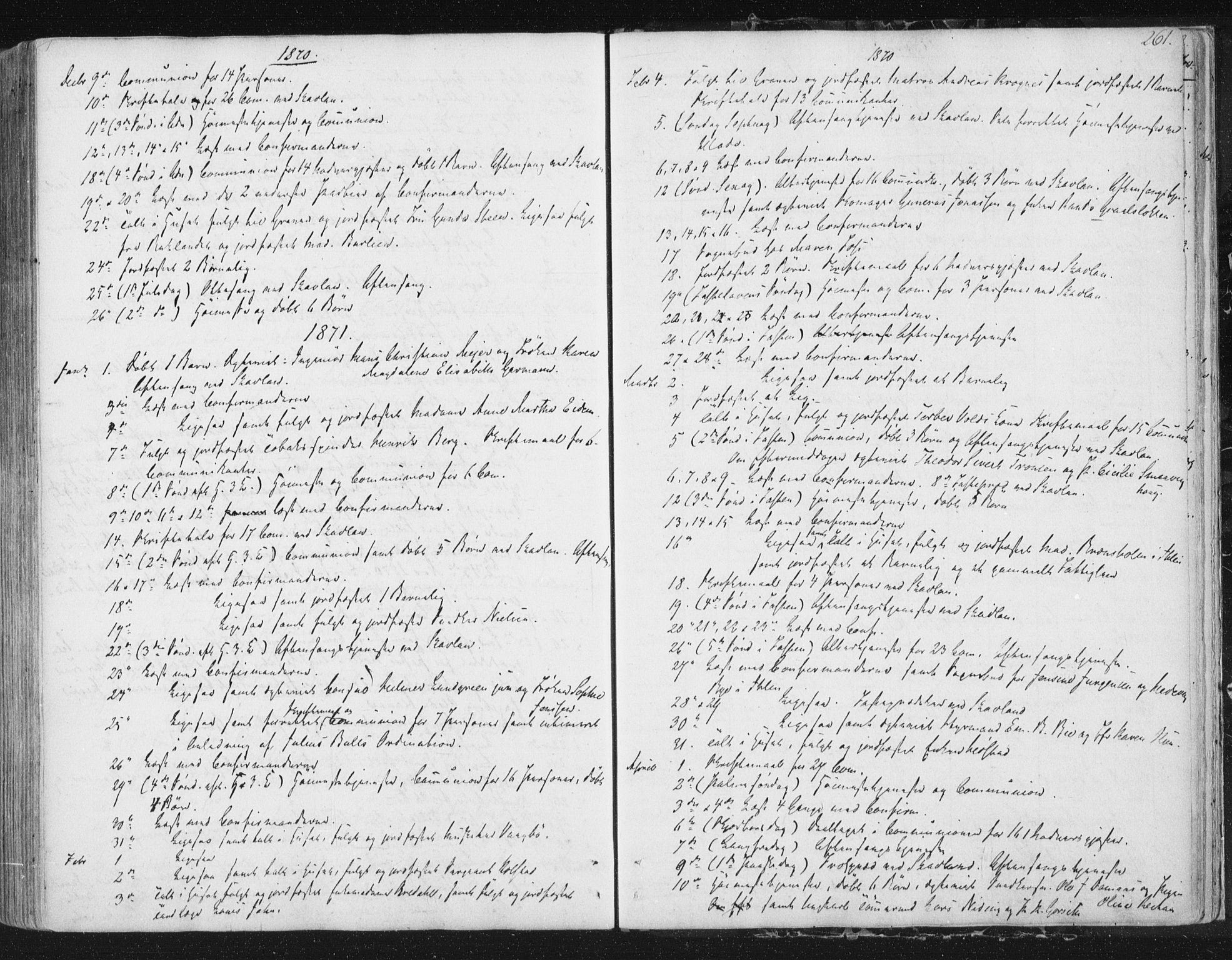 SAT, Ministerialprotokoller, klokkerbøker og fødselsregistre - Sør-Trøndelag, 602/L0127: Residerende kapellans bok nr. 602B01, 1821-1875, s. 261