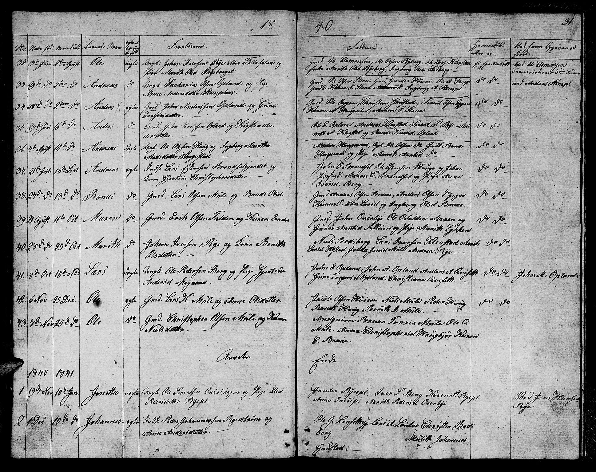 SAT, Ministerialprotokoller, klokkerbøker og fødselsregistre - Sør-Trøndelag, 612/L0386: Klokkerbok nr. 612C02, 1834-1845, s. 31