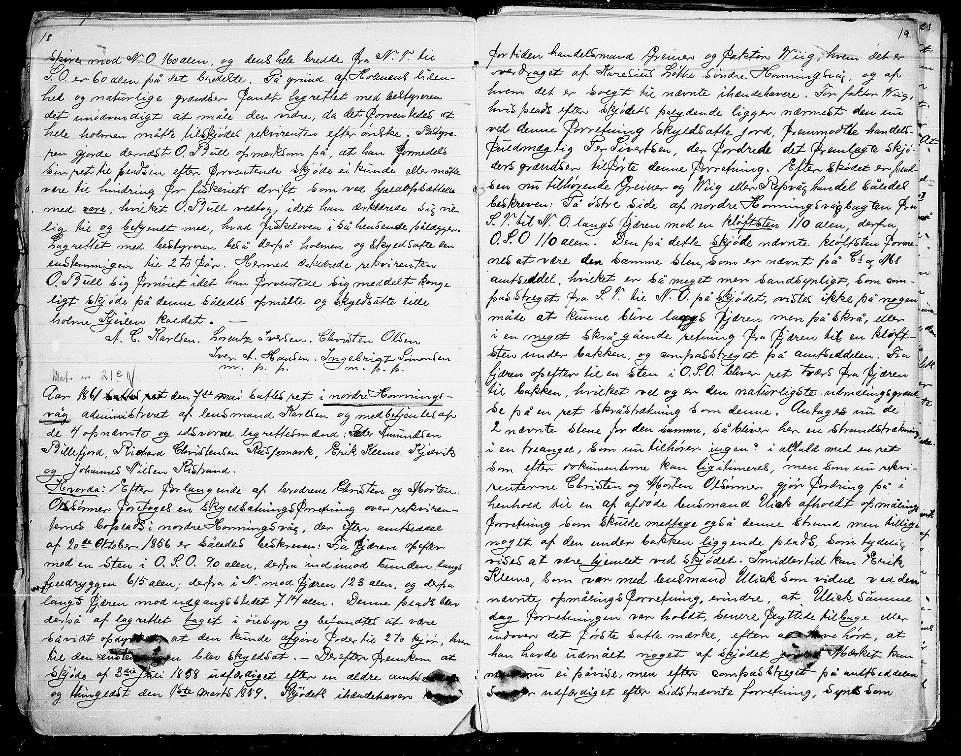 FIEI, Lensmannen i Kjelvik (hos Finnmarkseiendommen)*, 1859-1896, s. 18-19