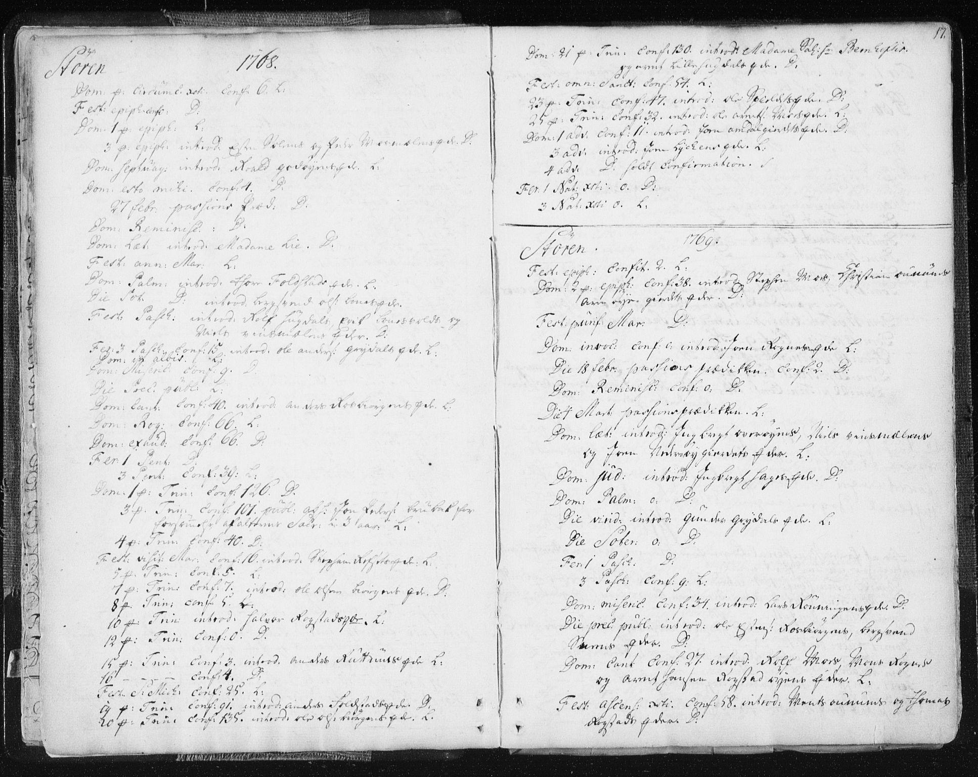 SAT, Ministerialprotokoller, klokkerbøker og fødselsregistre - Sør-Trøndelag, 687/L0991: Ministerialbok nr. 687A02, 1747-1790, s. 17