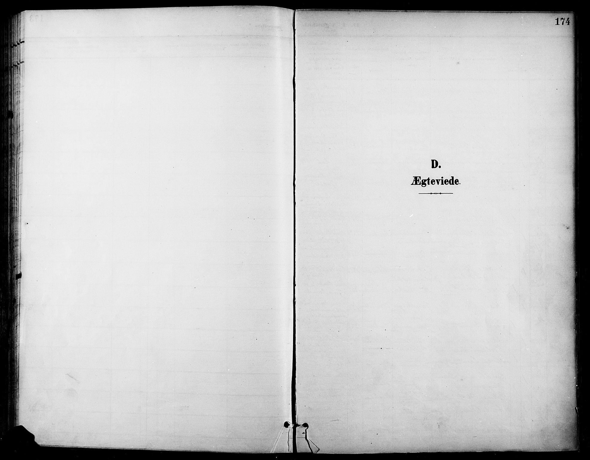SAH, Gran prestekontor, Ministerialbok nr. 19, 1898-1907, s. 174