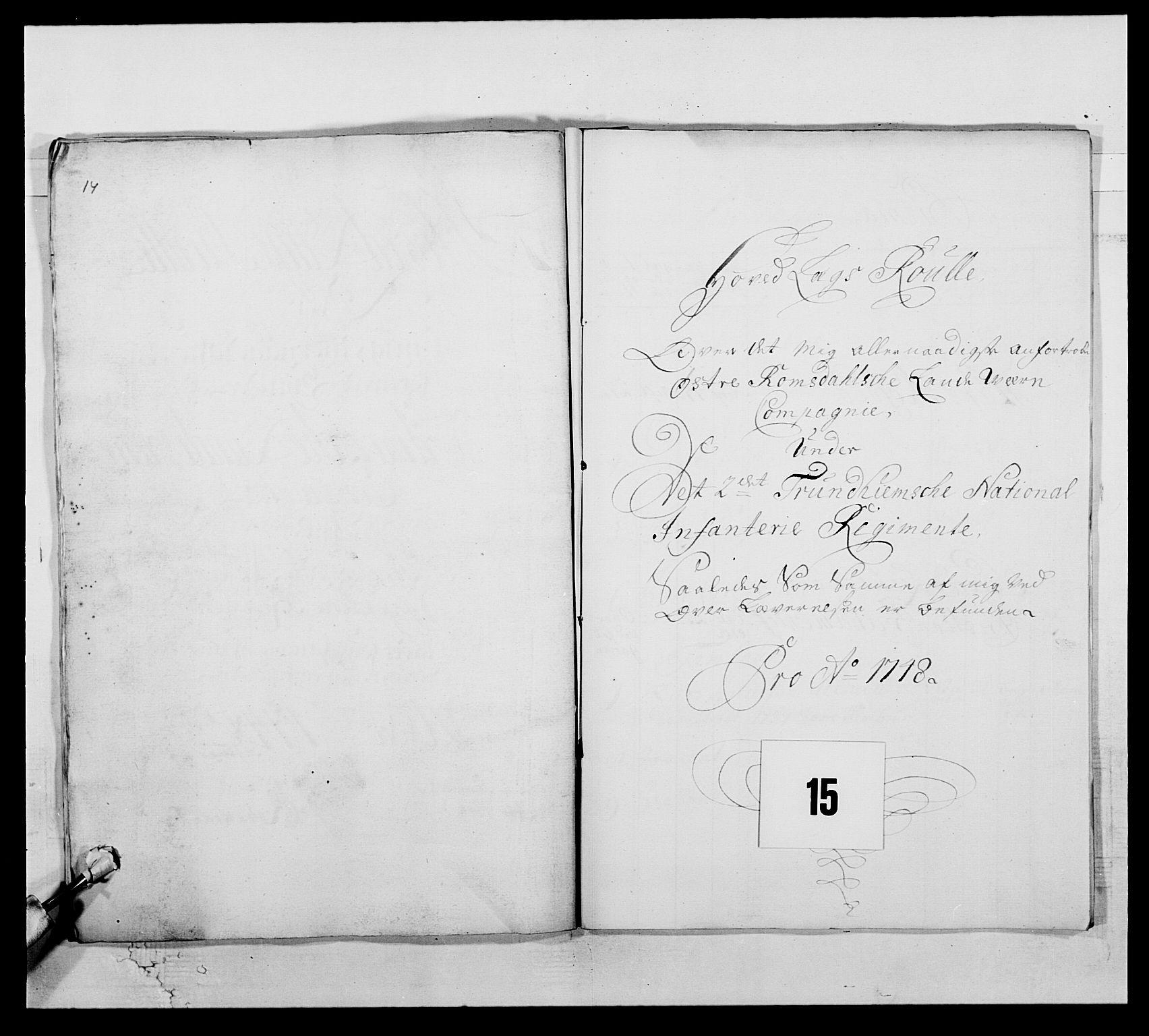 RA, Kommanderende general (KG I) med Det norske krigsdirektorium, E/Ea/L0512: 2. Trondheimske regiment, 1746-1749, s. 304