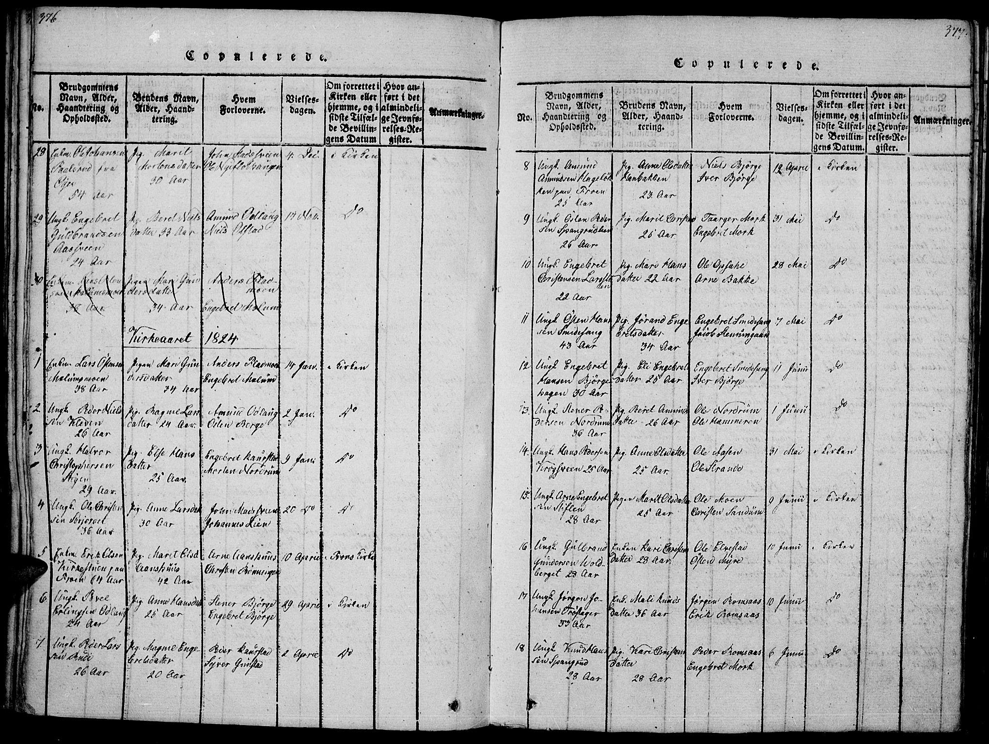 SAH, Ringebu prestekontor, Ministerialbok nr. 4, 1821-1839, s. 376-377