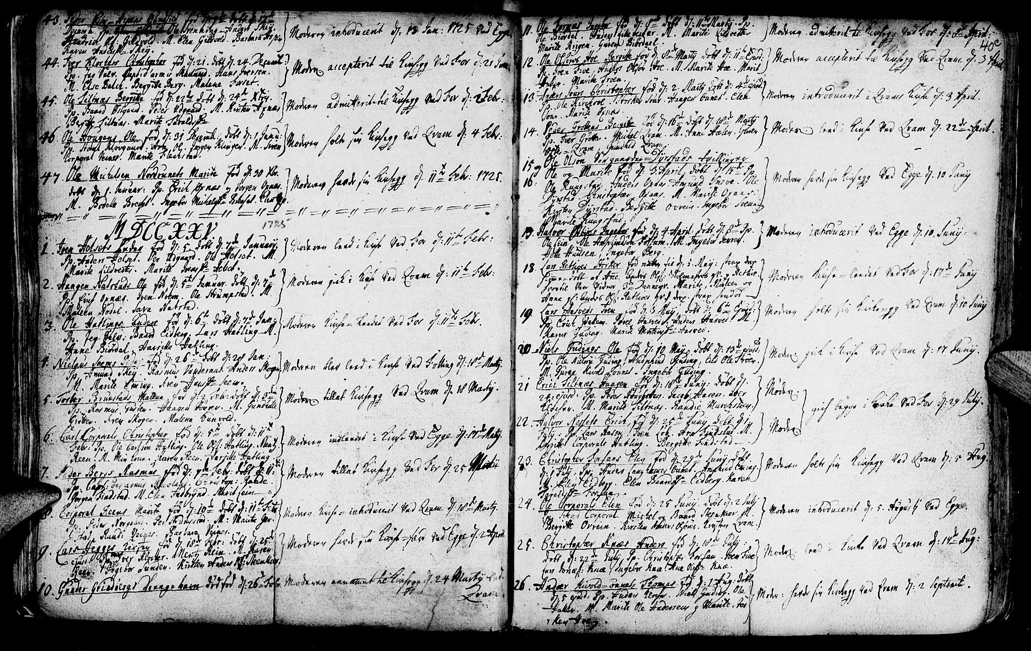 SAT, Ministerialprotokoller, klokkerbøker og fødselsregistre - Nord-Trøndelag, 746/L0439: Ministerialbok nr. 746A01, 1688-1759, s. 40d